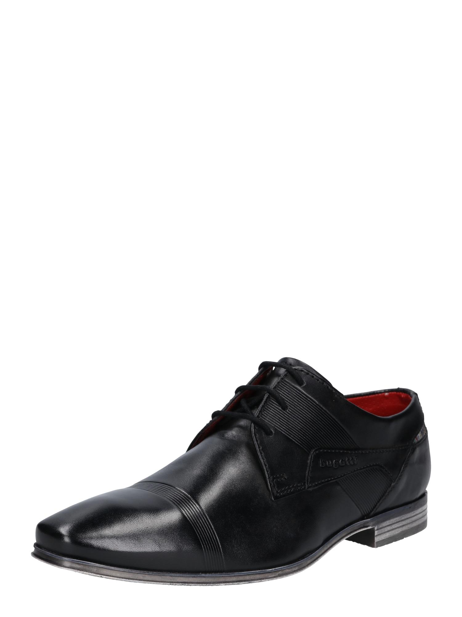 Šněrovací boty Morino černá Bugatti