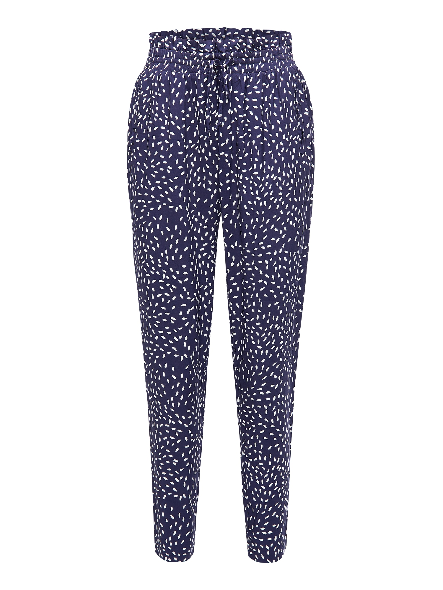 Kalhoty RAJNA 9789  tmavě modrá  bílá BROADWAY NYC FASHION