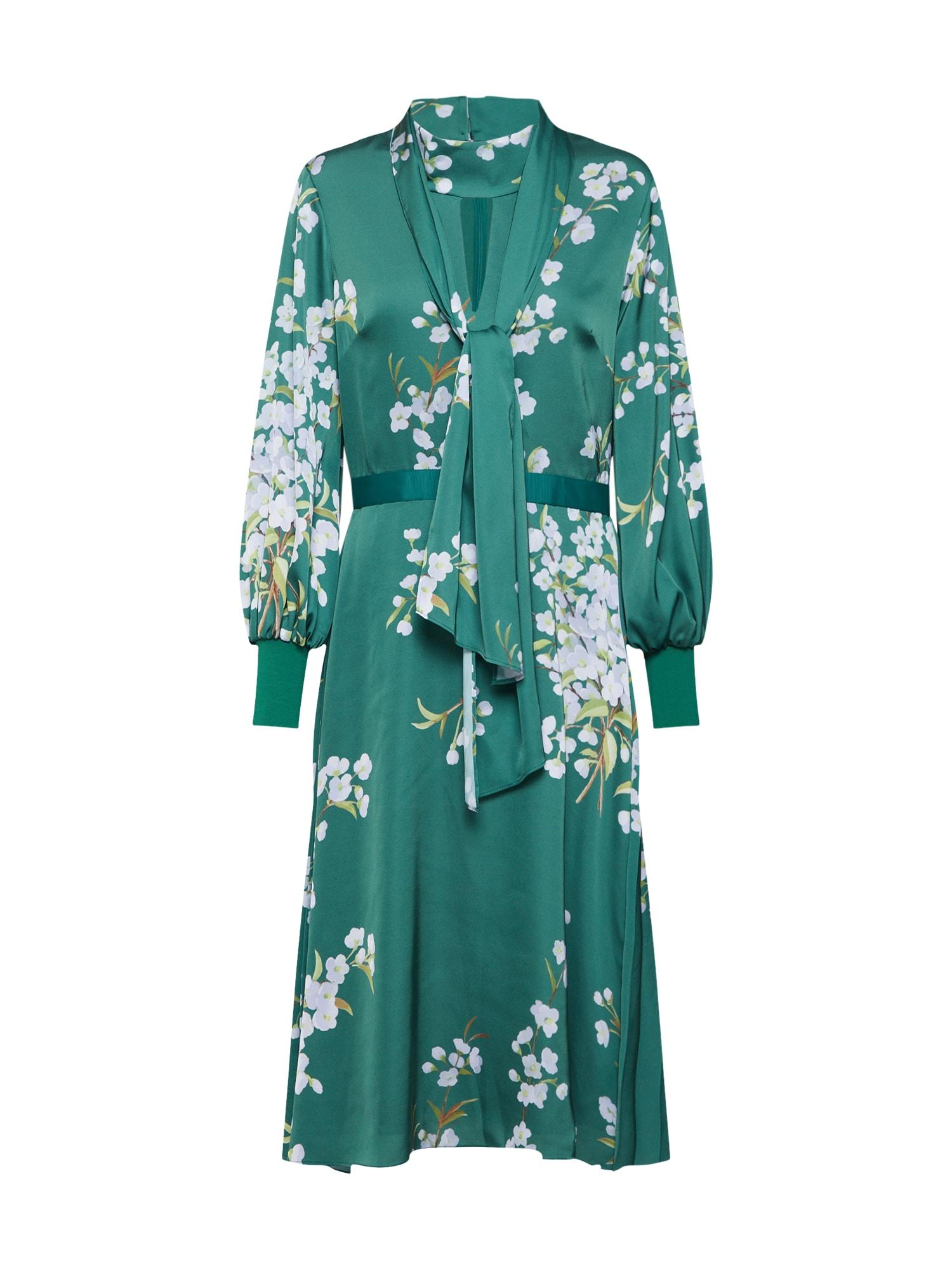 Šaty JHENNI zelená bílá Ted Baker