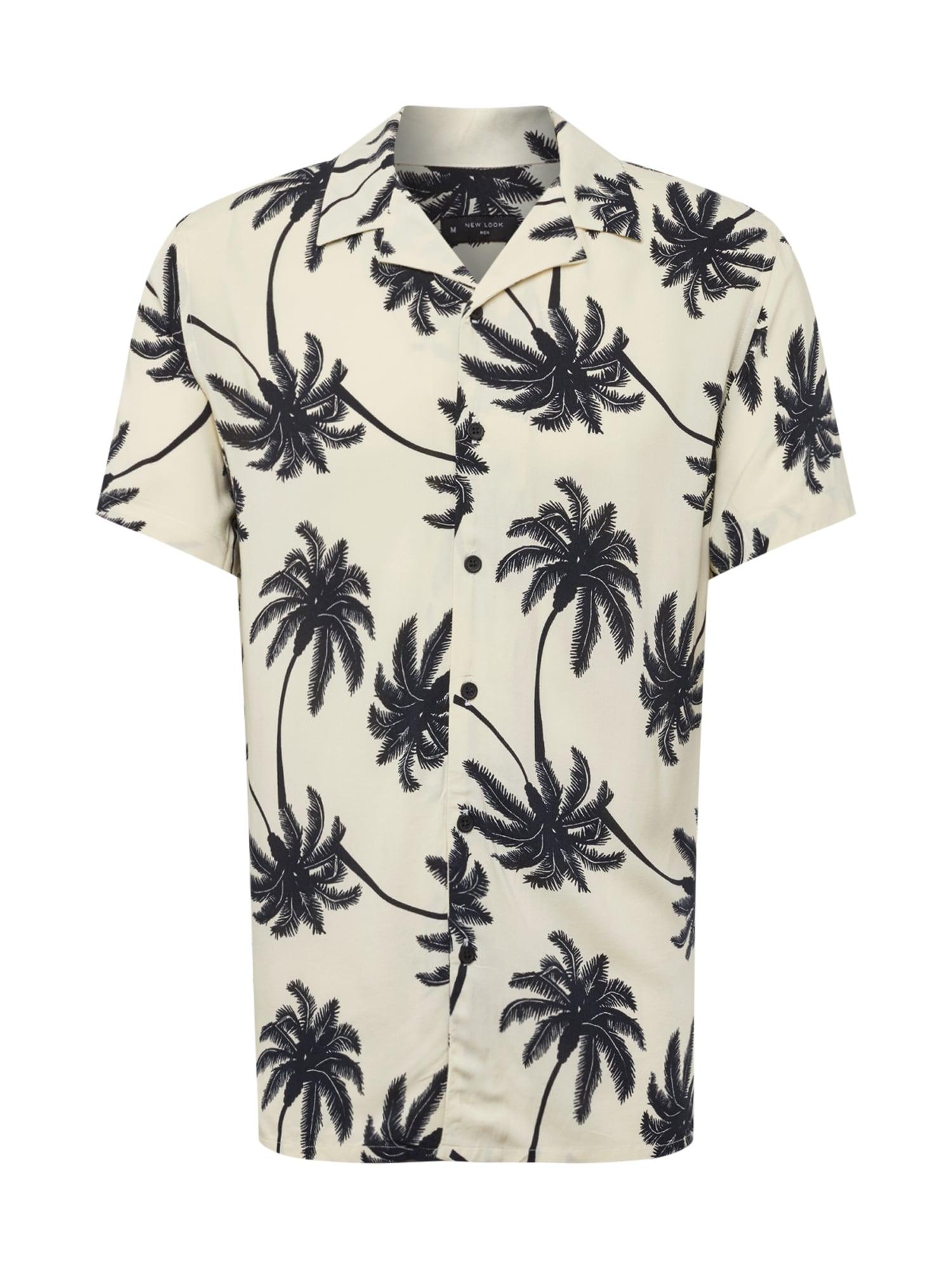Košile béžová černá NEW LOOK