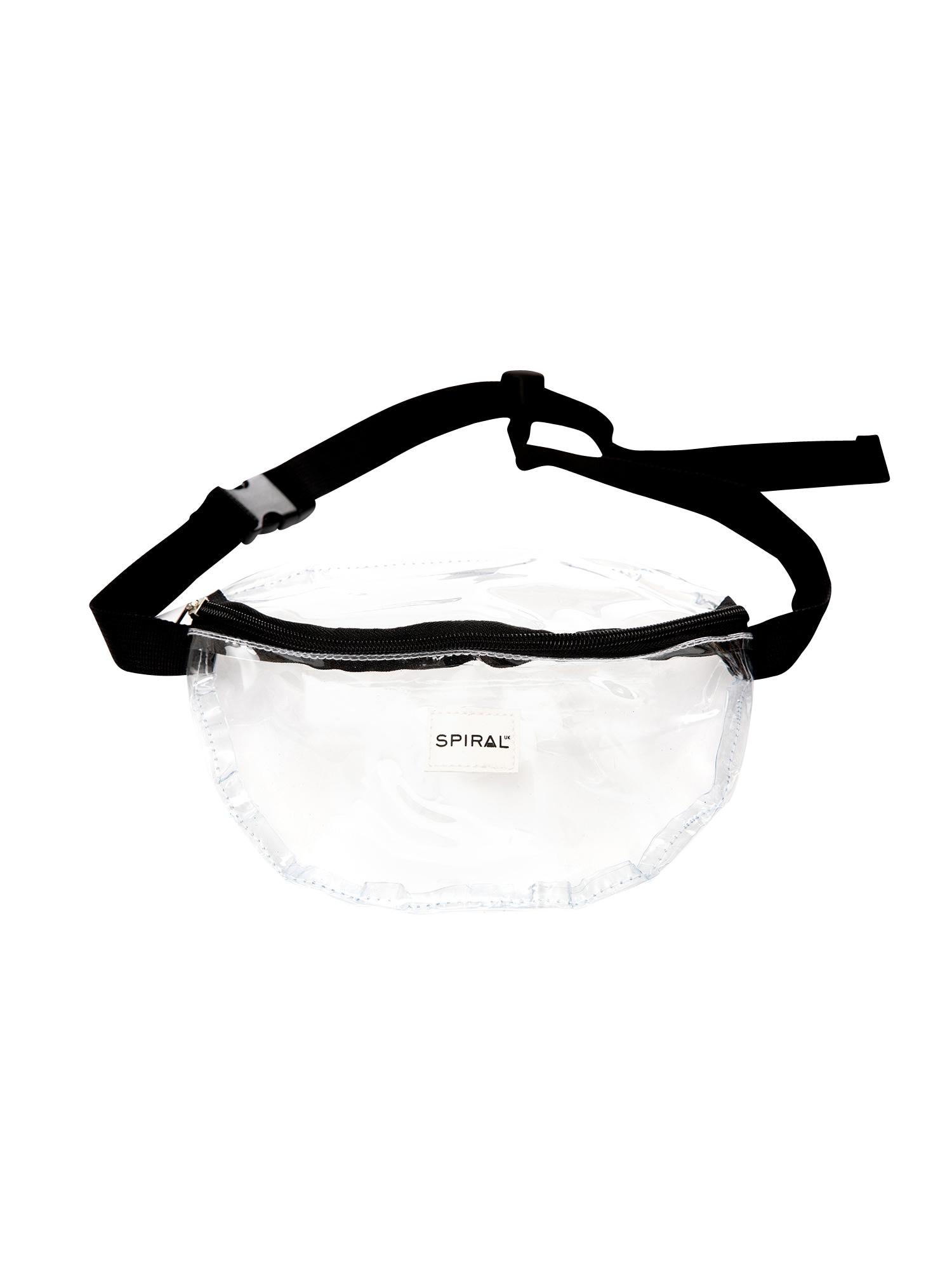 Ledvinka BUM BAG 12 černá průhledná SPIRAL