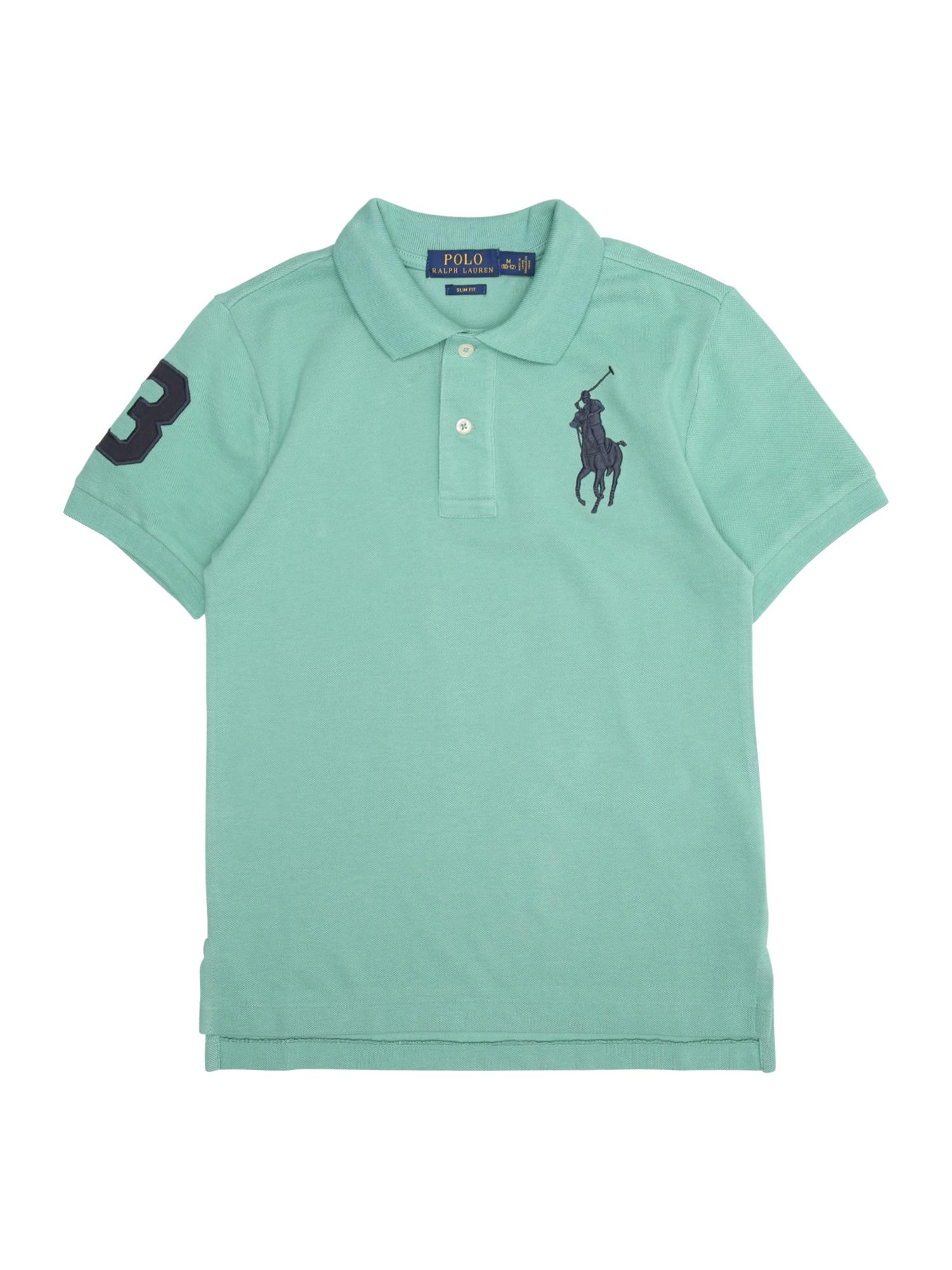 Tričko tmavě modrá zelená POLO RALPH LAUREN