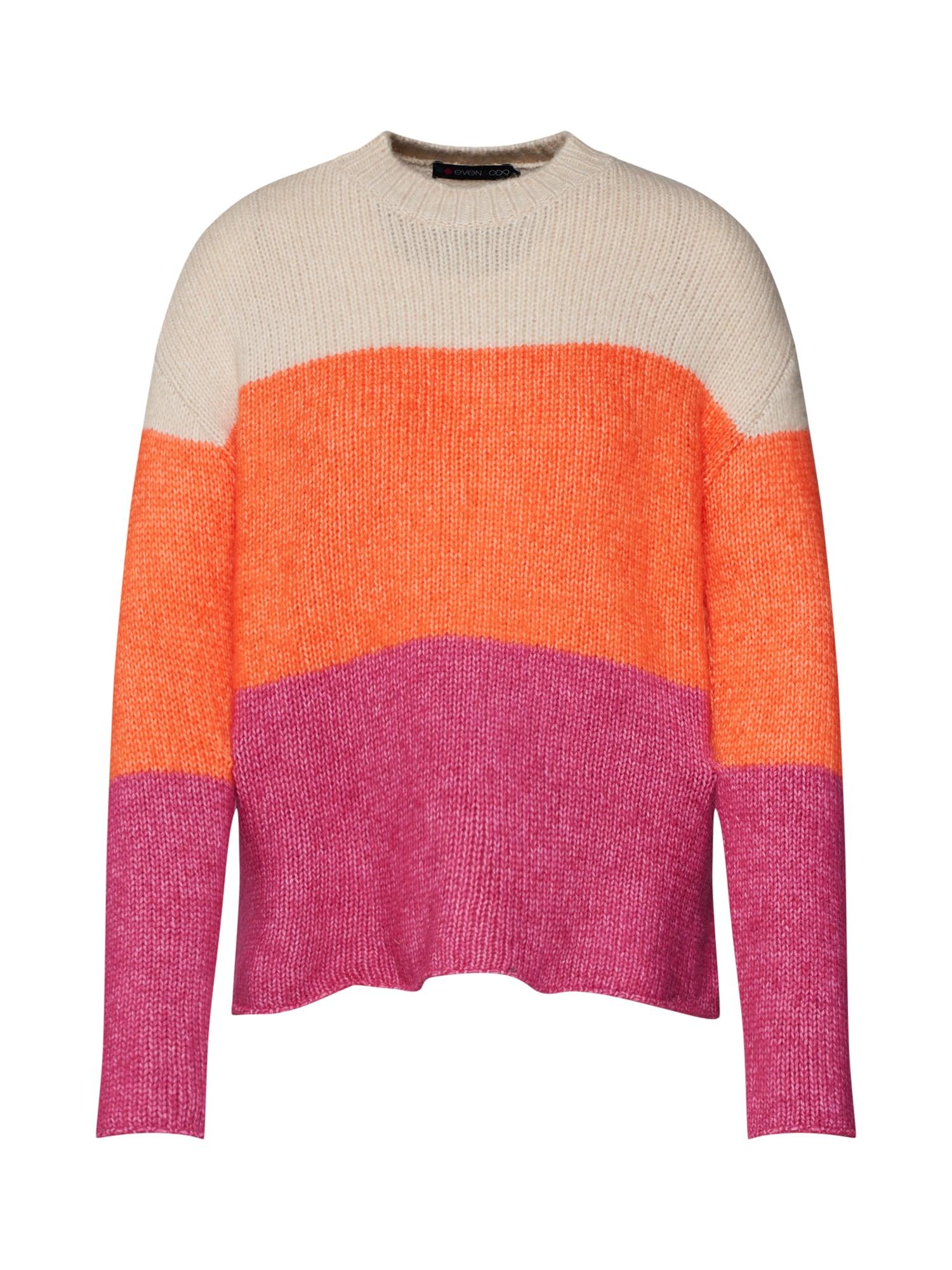 Svetr Colour Block stripes jumper oranžová pink červená Even&odd