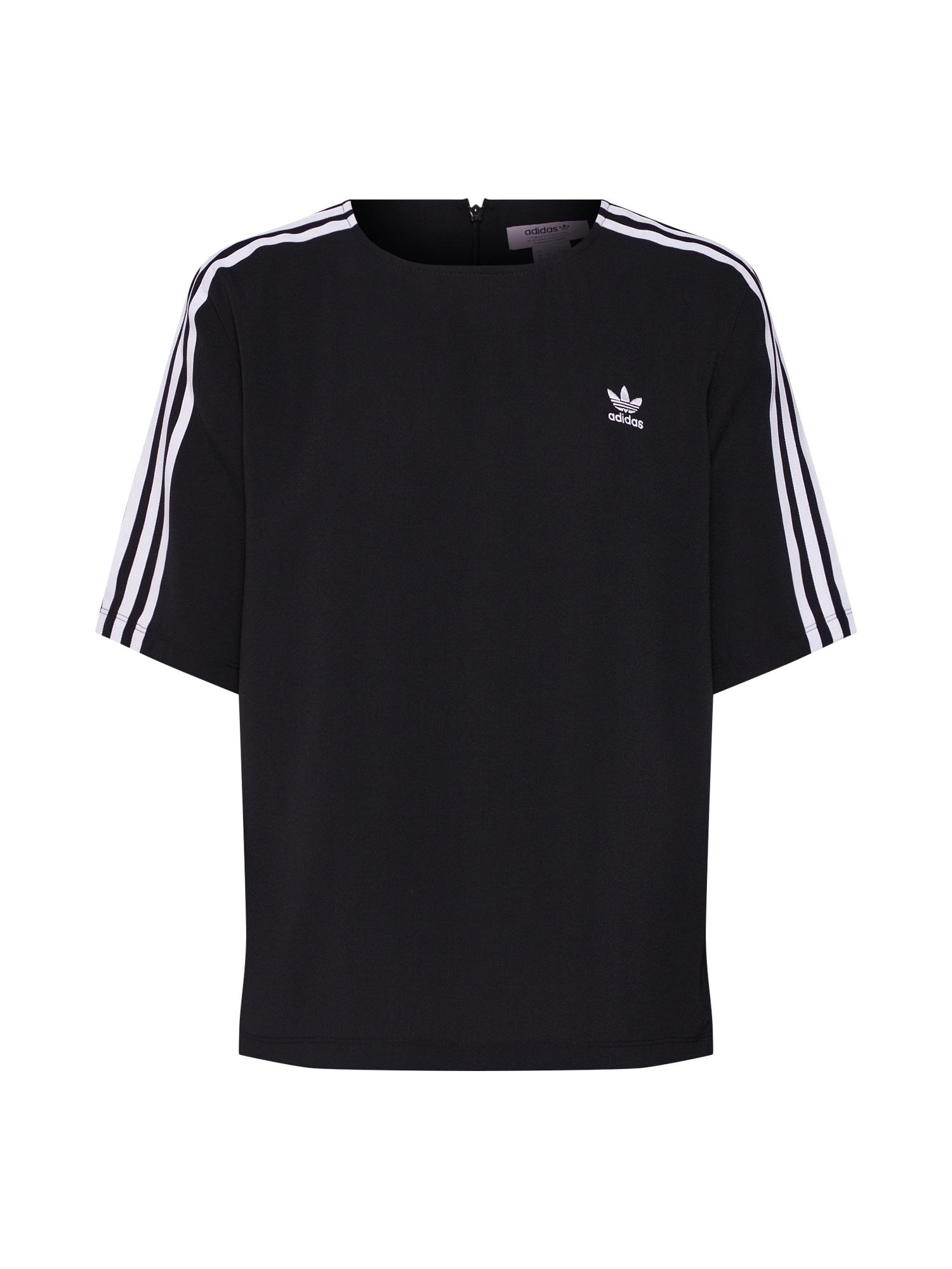 Tričko 3 STRIPES černá bílá ADIDAS ORIGINALS