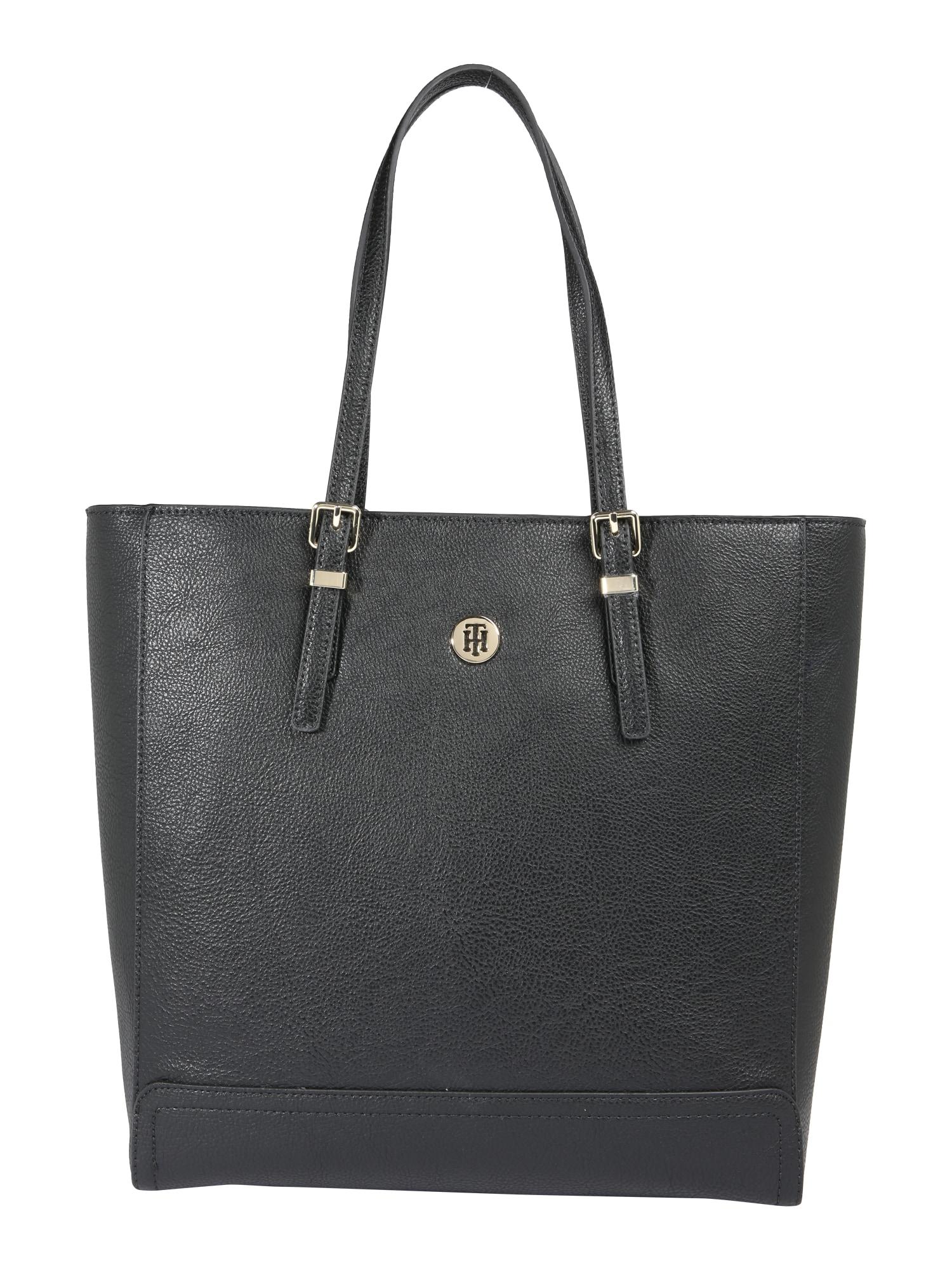Nákupní taška Honey Finegrain Work Bag  černá TOMMY HILFIGER
