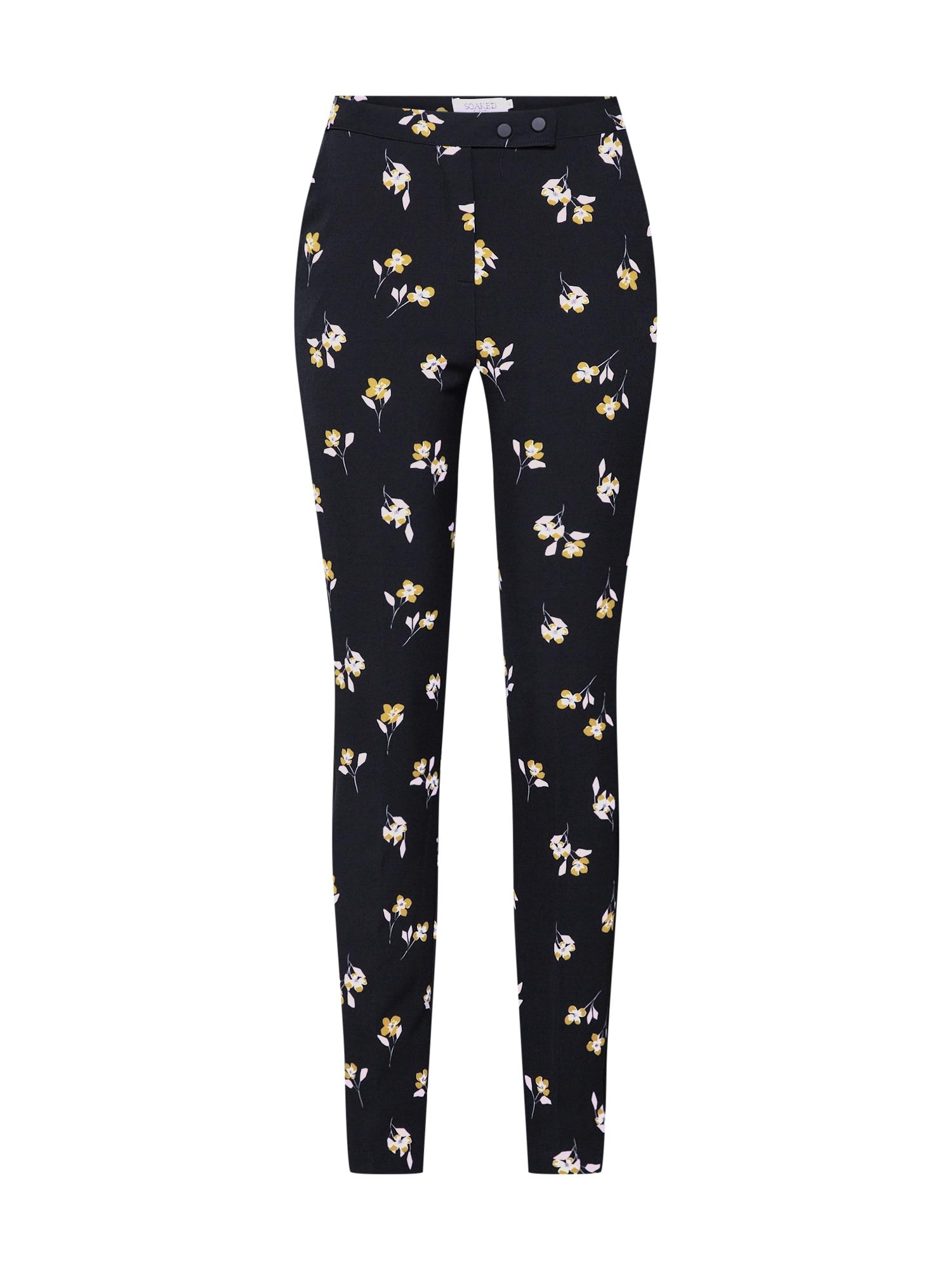 Kalhoty Lexi Pants žlutá pink černá SOAKED IN LUXURY