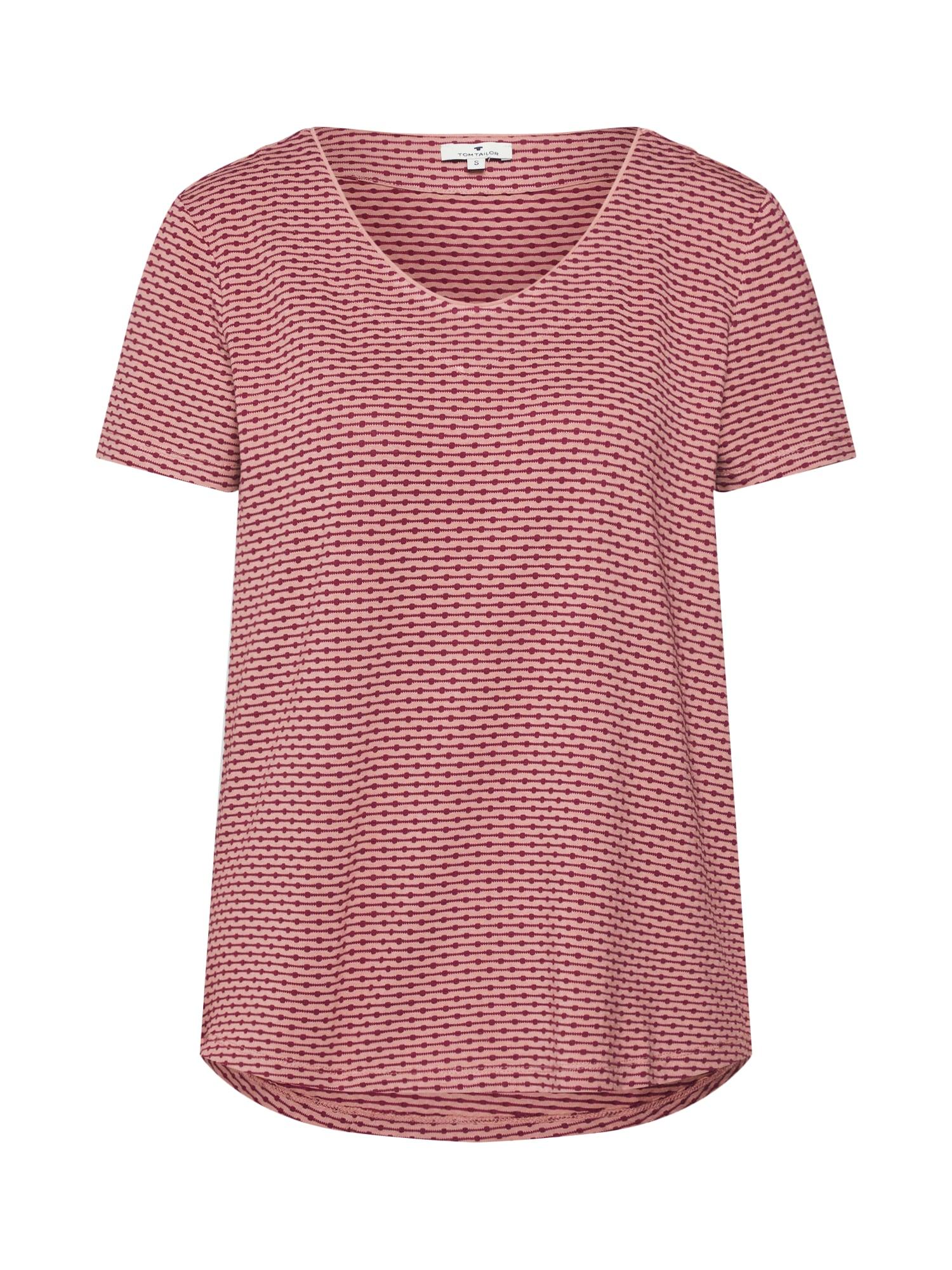 Tričko růžová červená TOM TAILOR