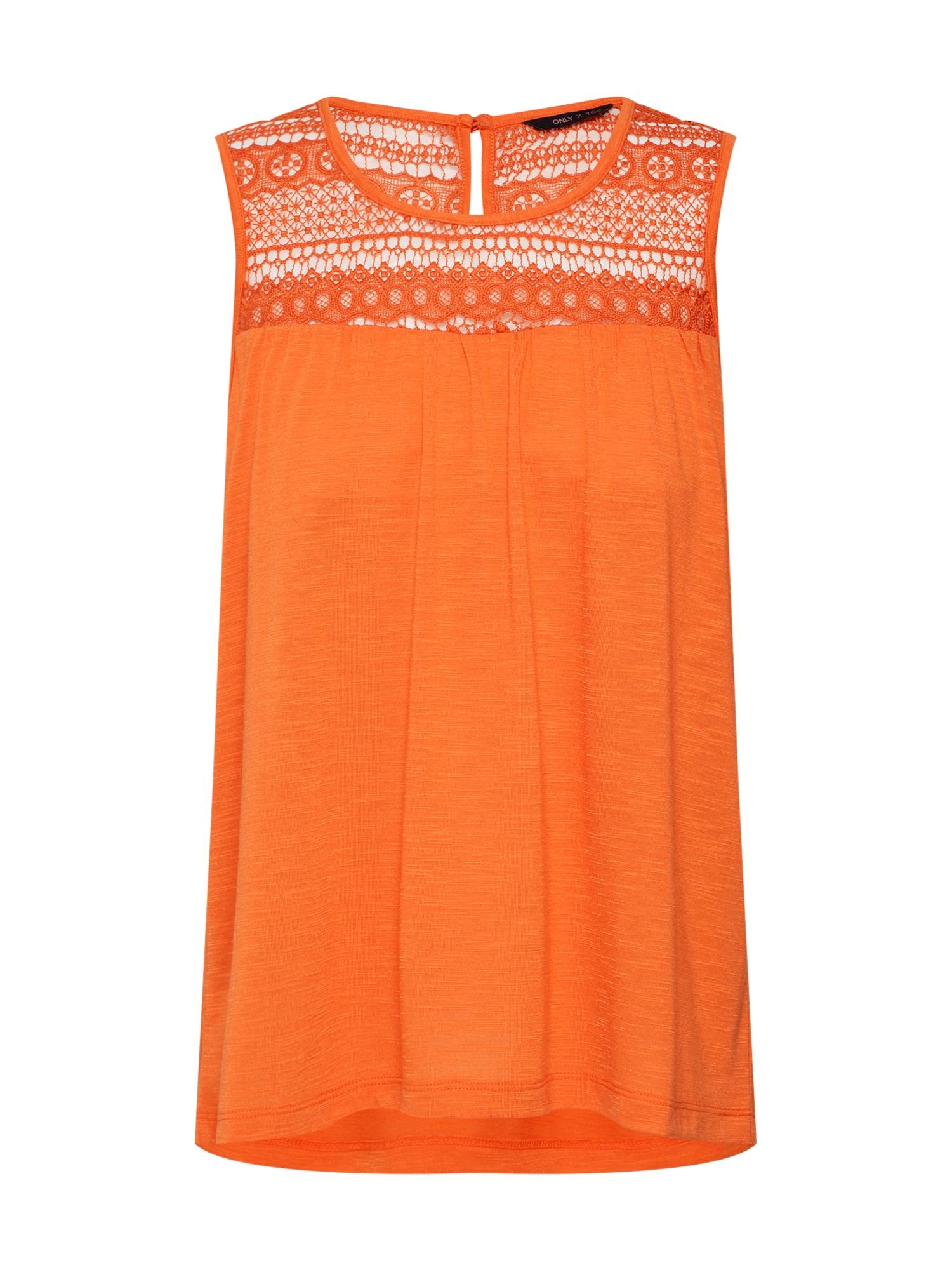 Top LOVELY oranžová ONLY
