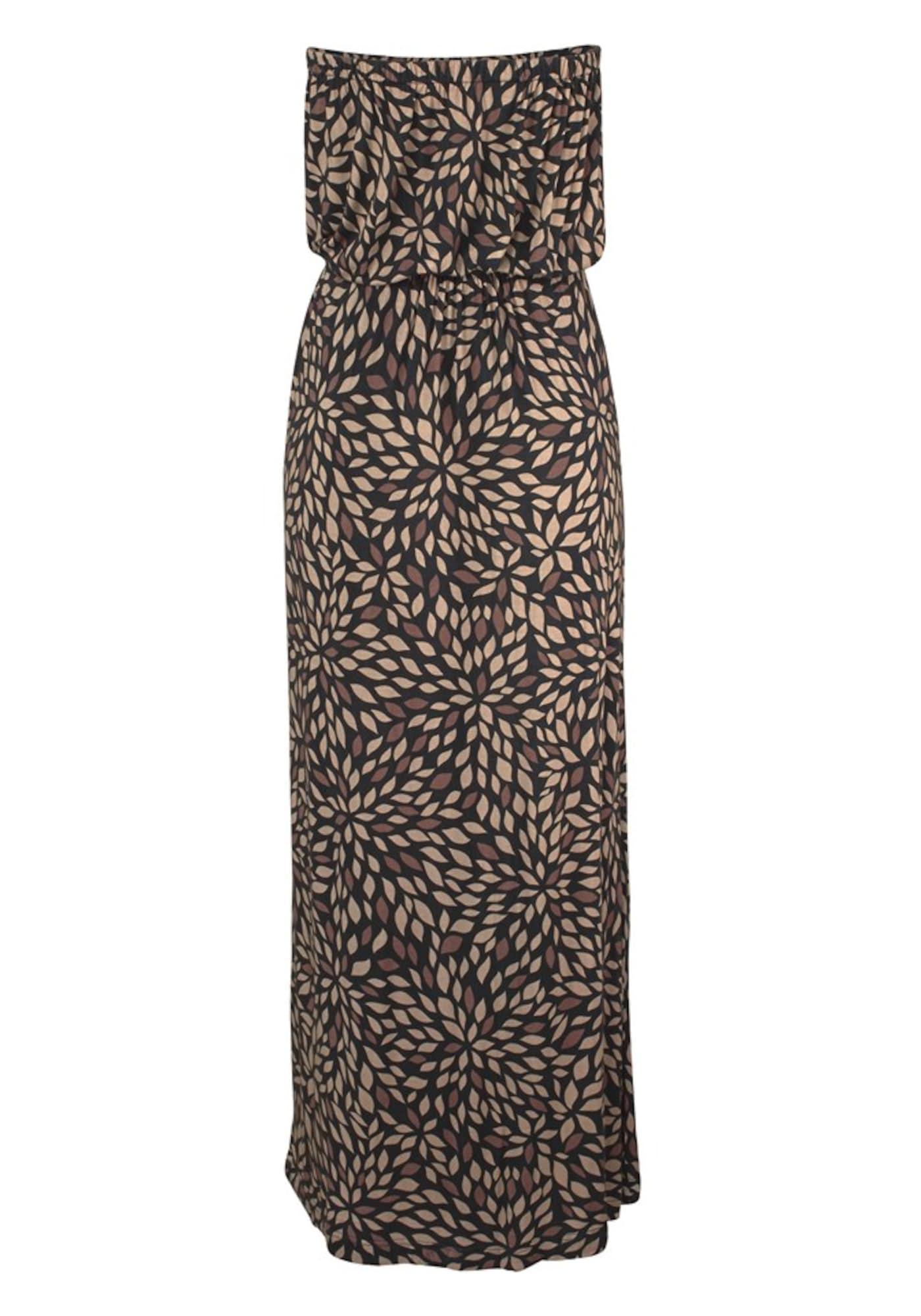 Letní šaty béžová hnědá LASCANA