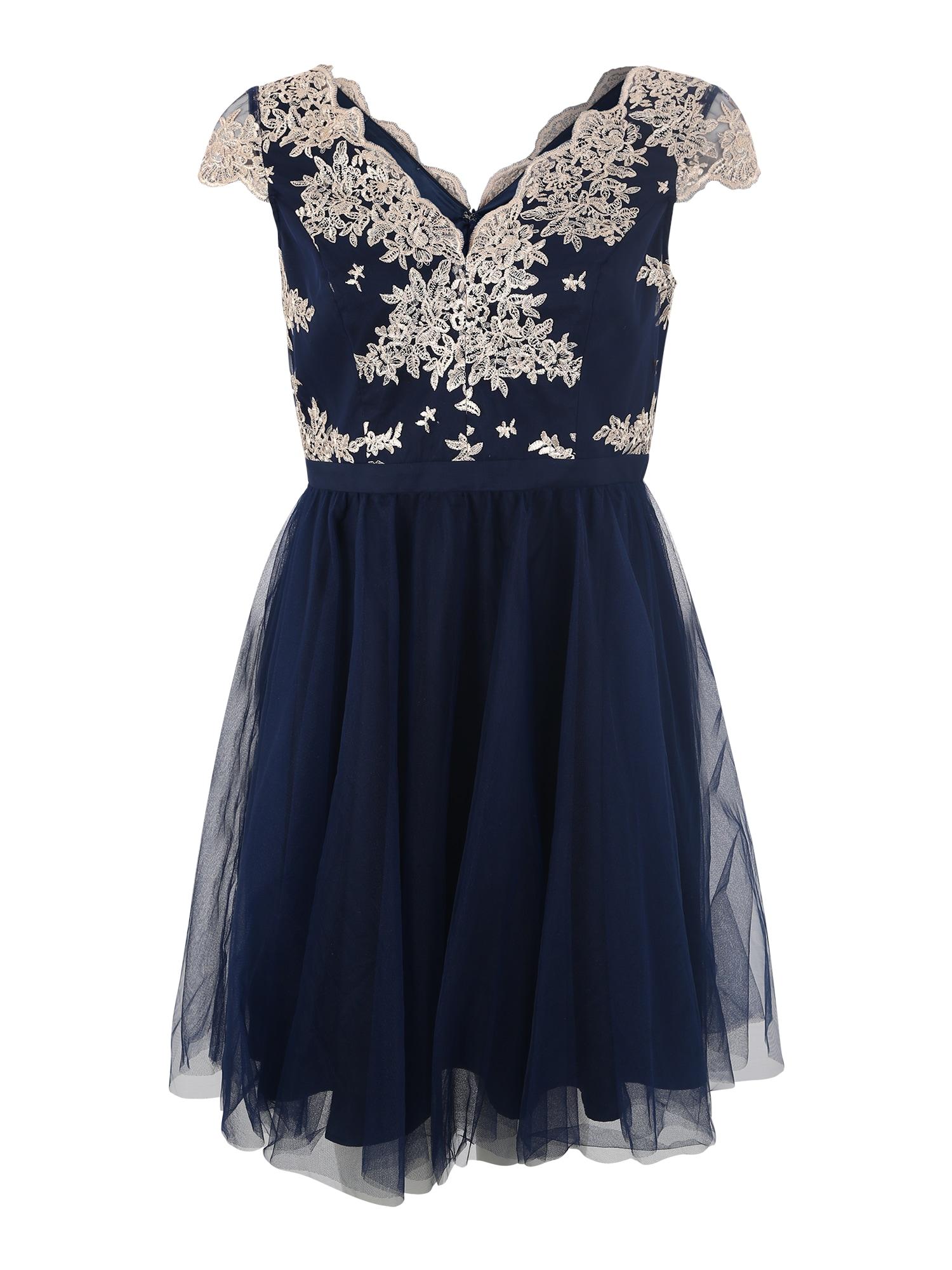 Šaty světle béžová noční modrá Chi Chi Curve