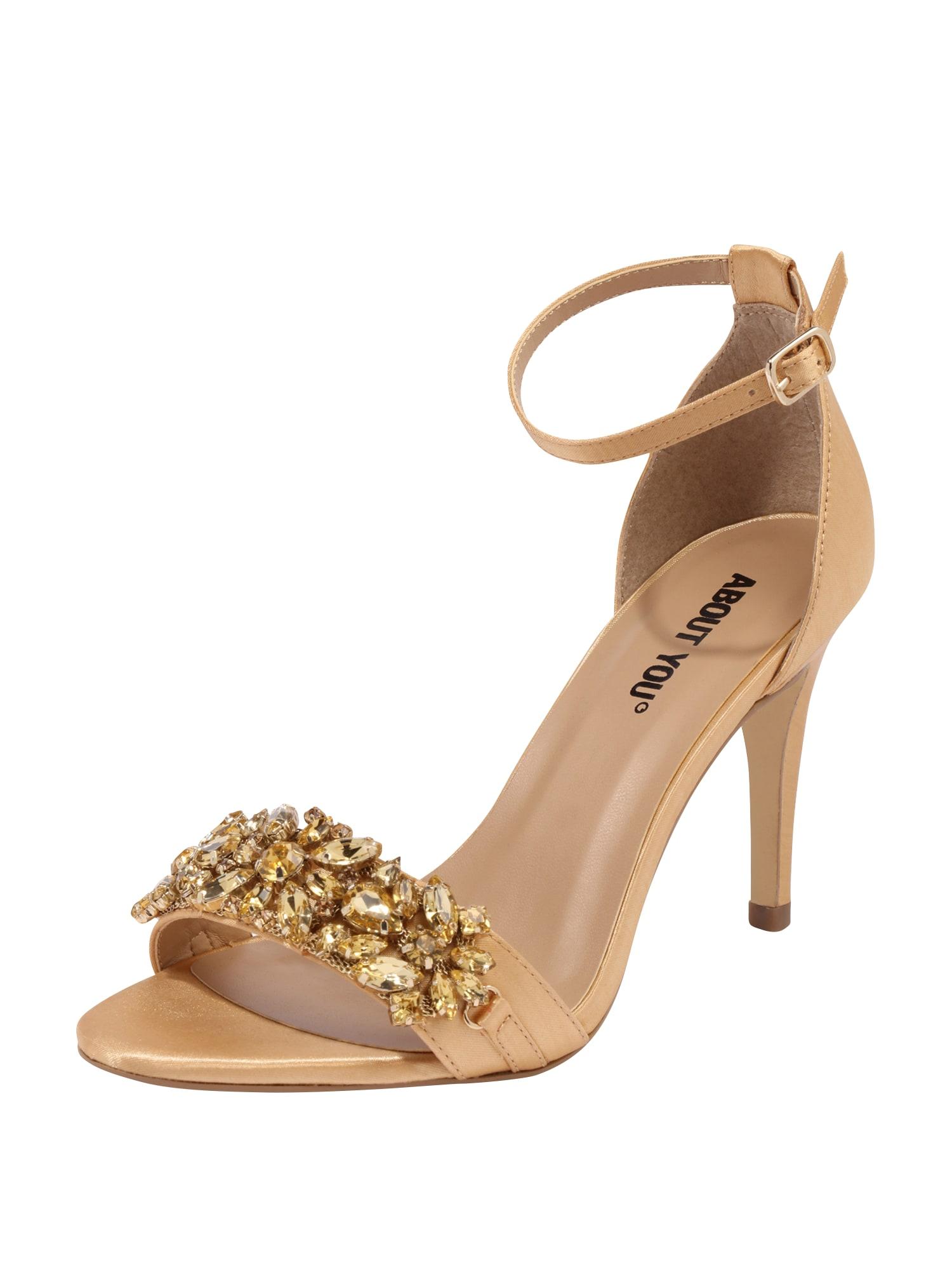 Páskové sandály EMILY champagne ABOUT YOU