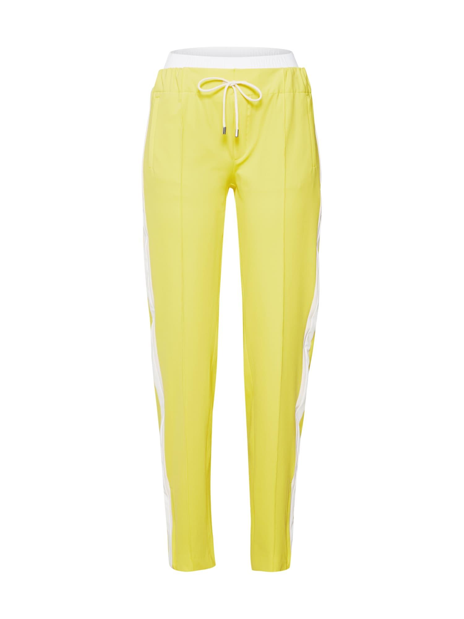 Kalhoty se sklady v pase RAVING  žlutá DRYKORN