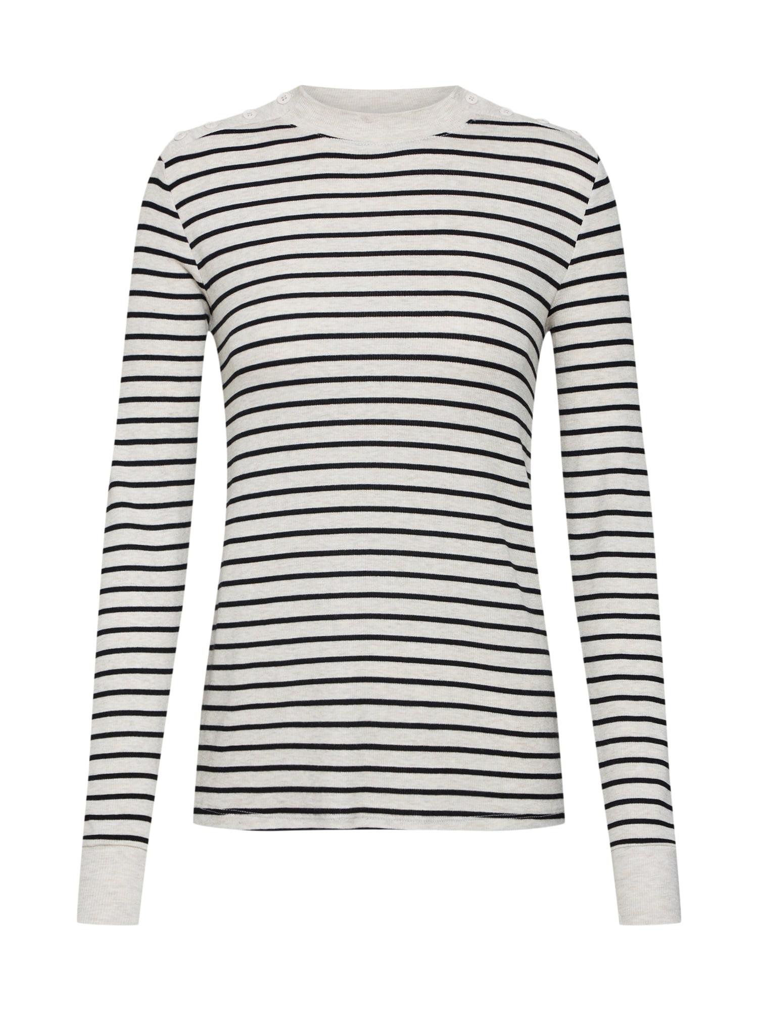 Tričko krémová černá perlově bílá GAP