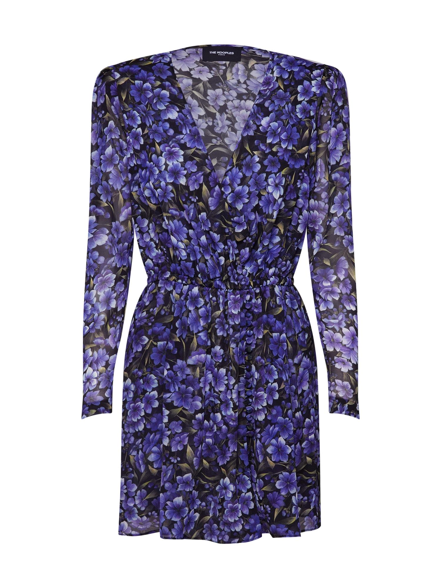Šaty FROB18026K tmavě fialová černá The Kooples