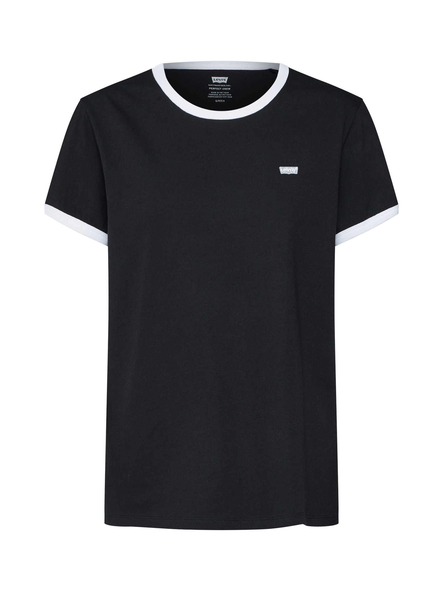 LEVIS Tričko Perf Non-Gaphic Ringer černá bílá LEVI'S