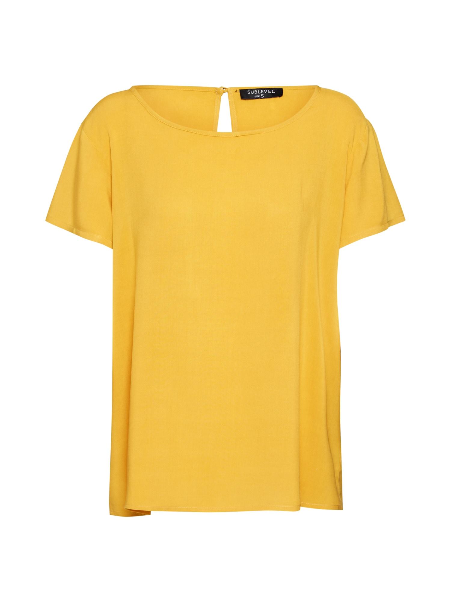 Tričko D73760M10953B žlutá Sublevel
