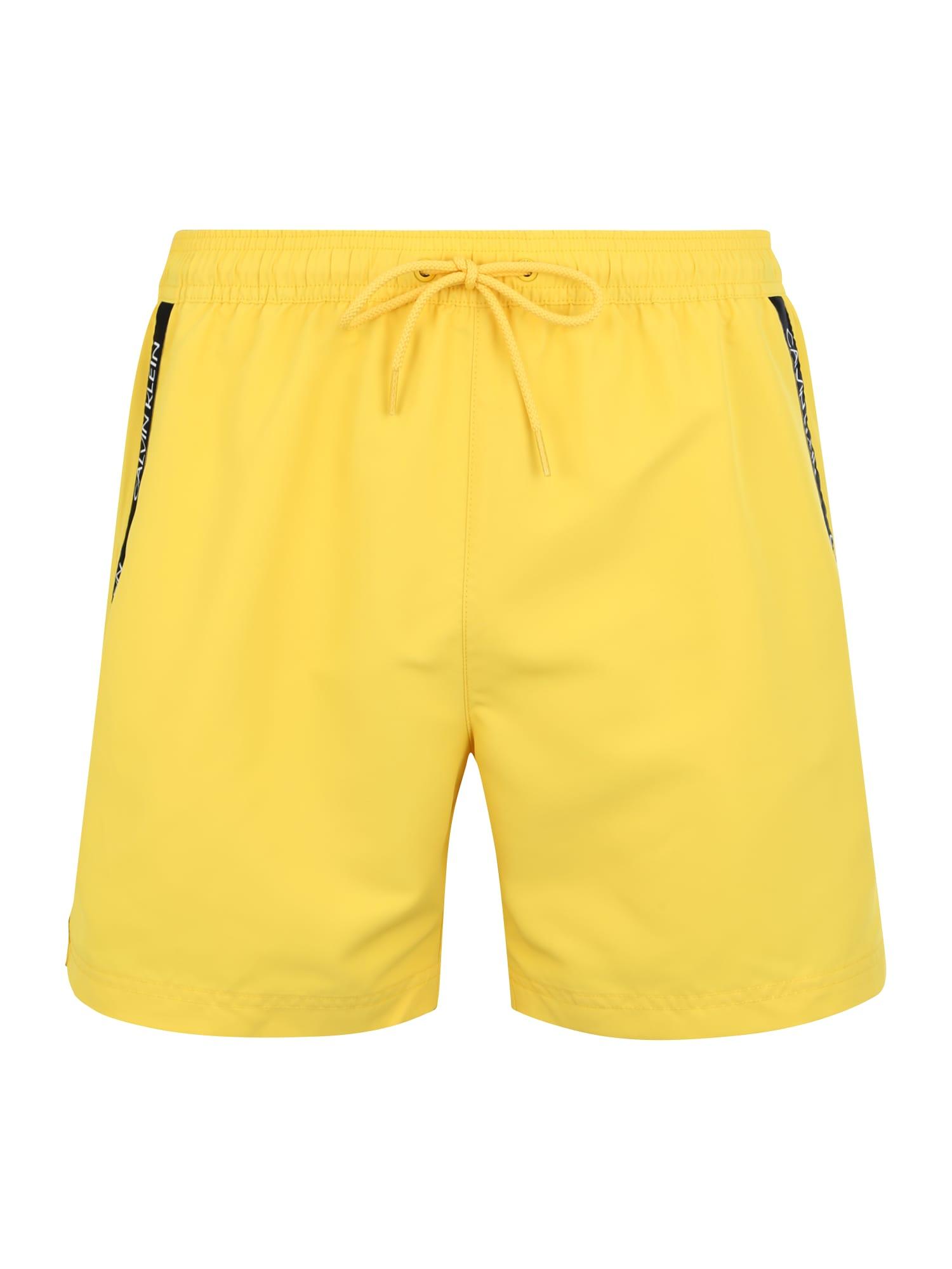 Plavky žlutá Calvin Klein Swimwear