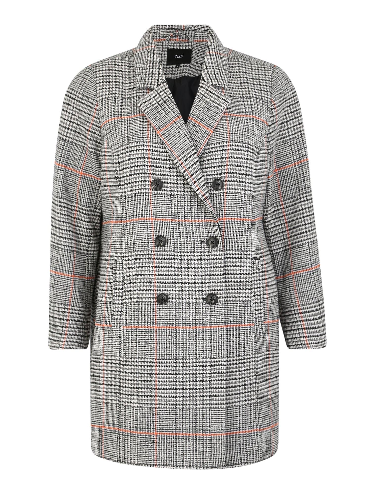 Zizzi Rudeninis-žieminis paltas 'MZOLA' pilka / juoda