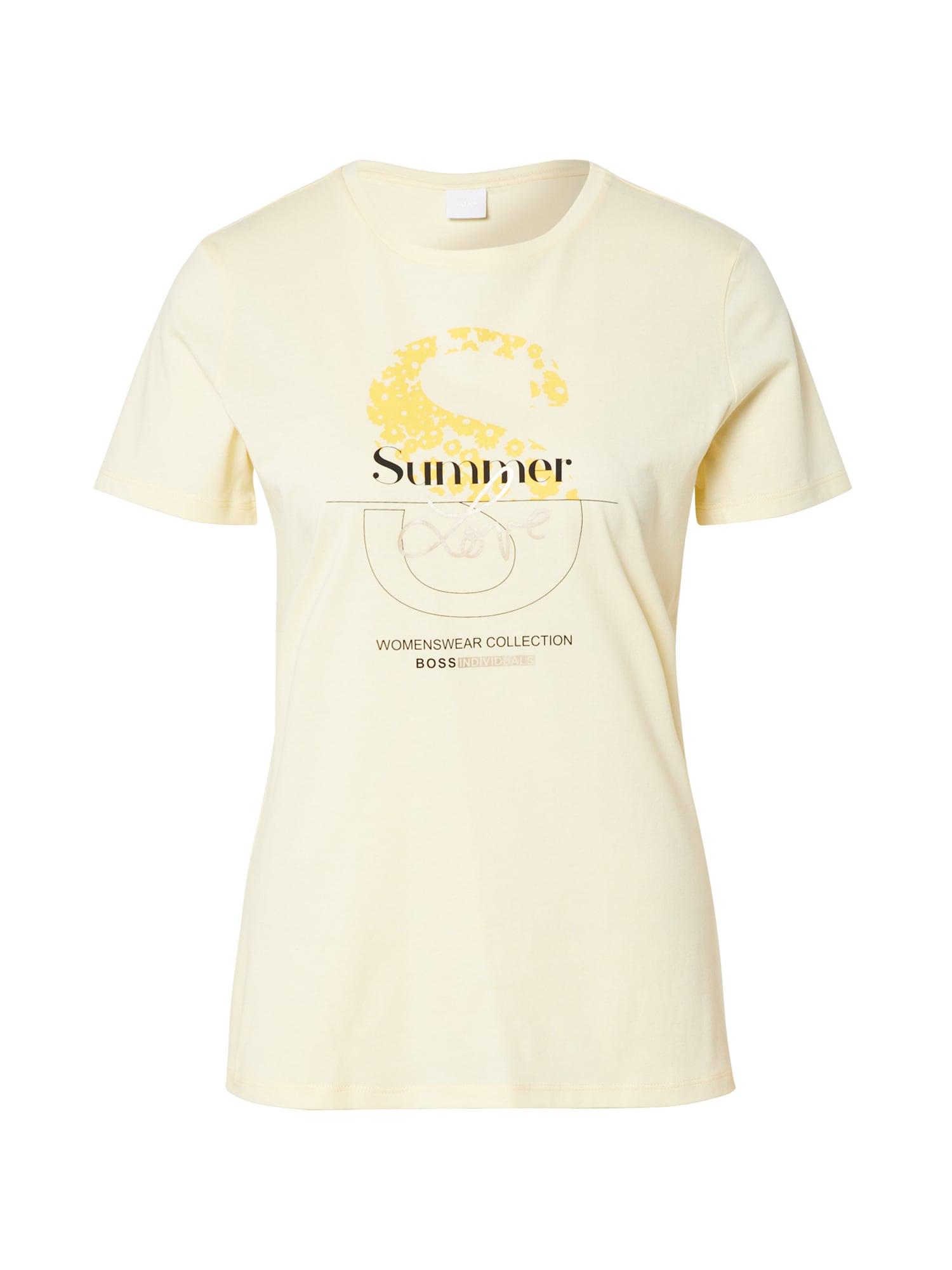 BOSS Marškinėliai 'Tenovel' geltona