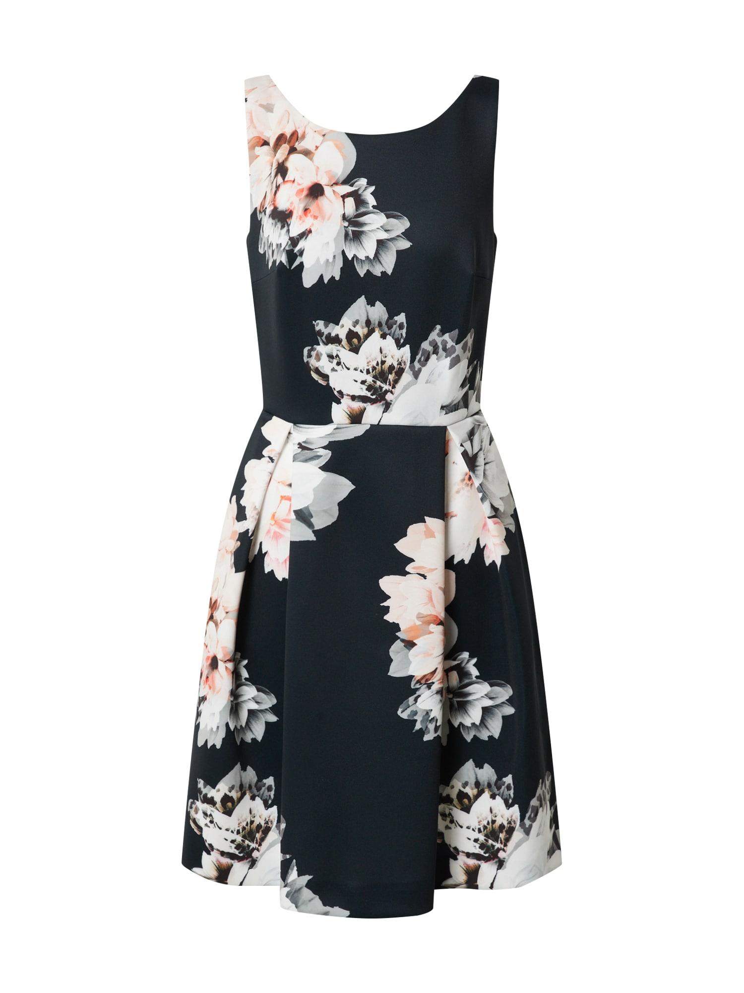 SWING Suknelė balkšva / juoda / rožių spalva