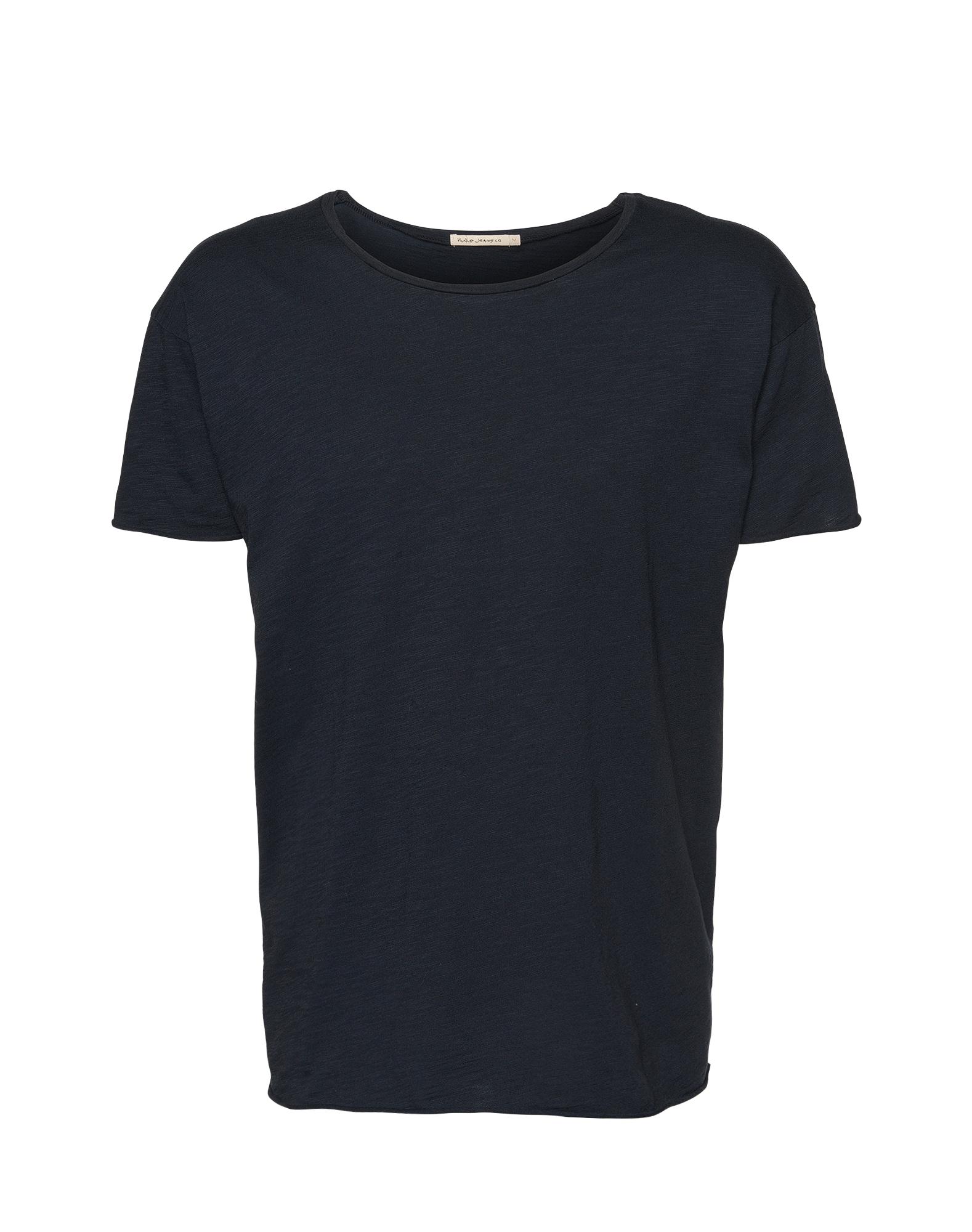 Nudie Jeans Co Marškinėliai 'Roger Slub' tamsiai mėlyna
