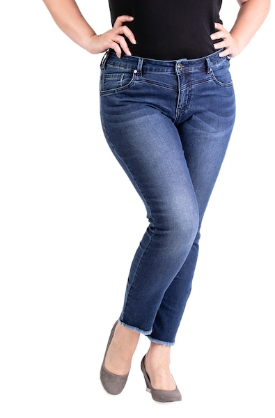 Hosen - Cropped Jeans 'IRIS' › Purple Lily › blau  - Onlineshop ABOUT YOU