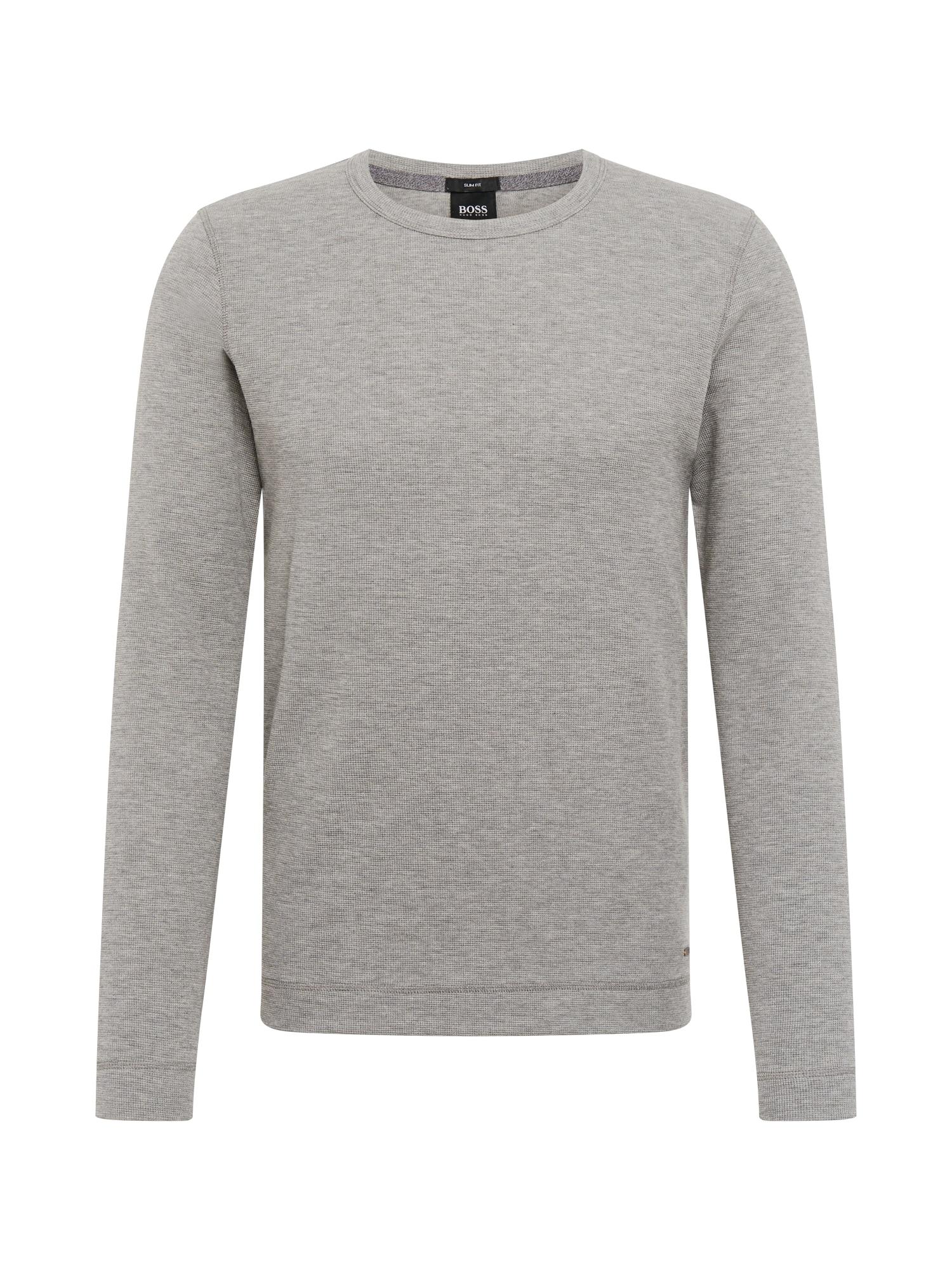 BOSS Marškinėliai 'Tempest' šviesiai pilka