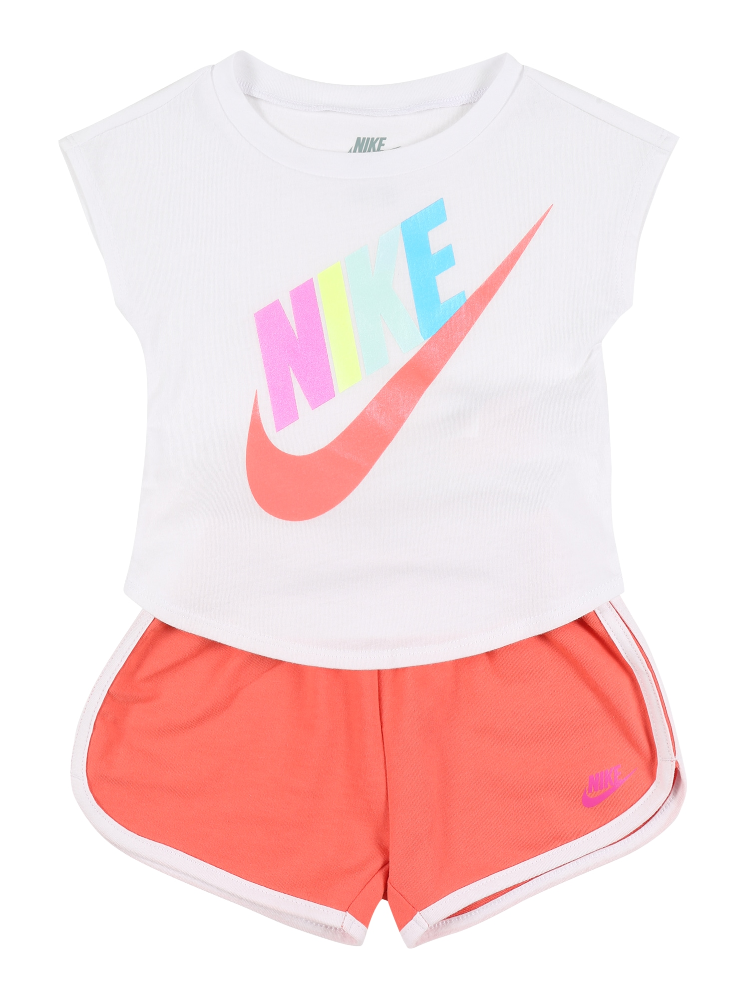 Nike Sportswear Rinkinys 'FUTURA SS TEE & SHORT SET' oranžinė