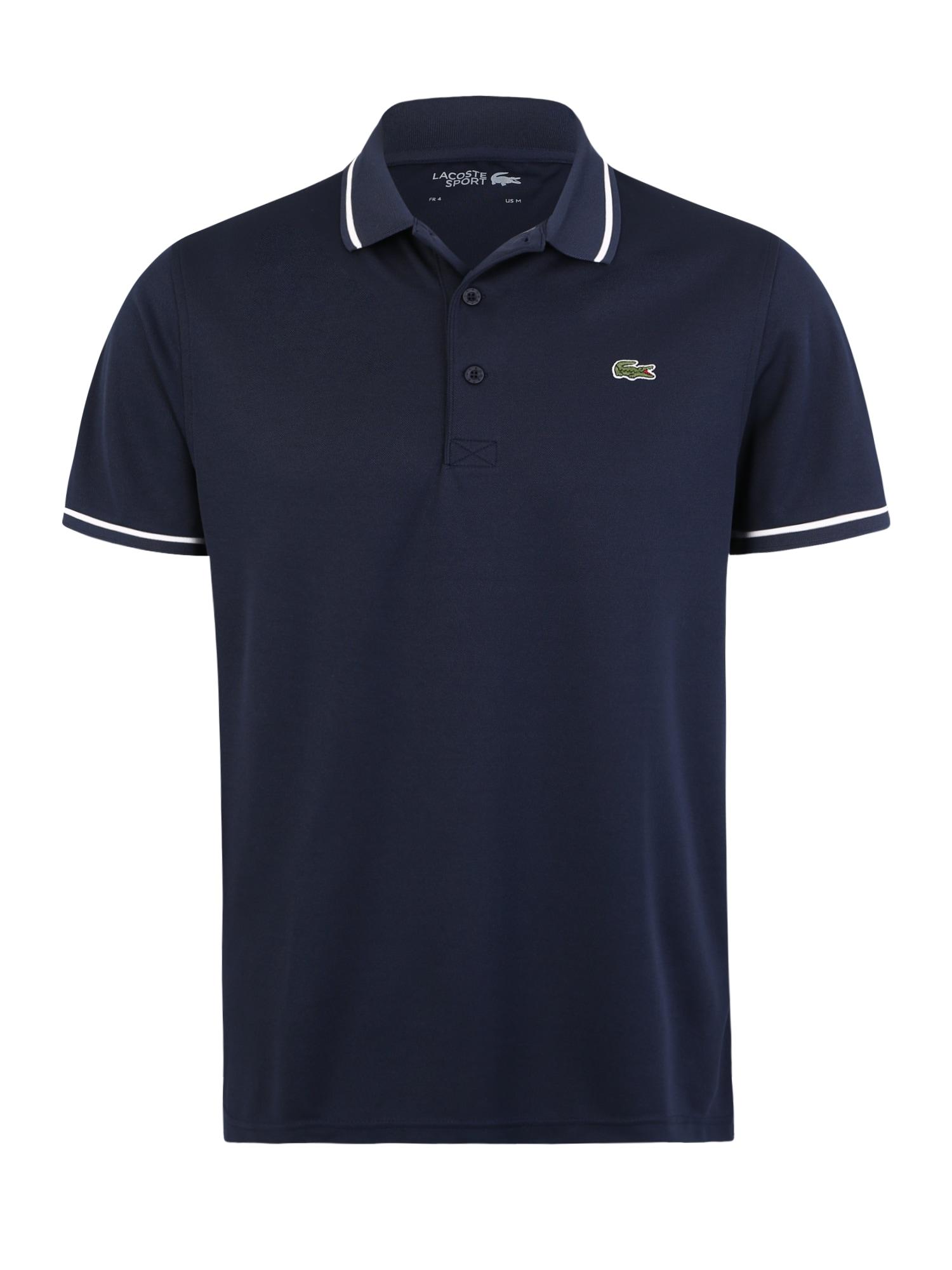 Lacoste Sport Sportiniai marškinėliai tamsiai mėlyna jūros spalva
