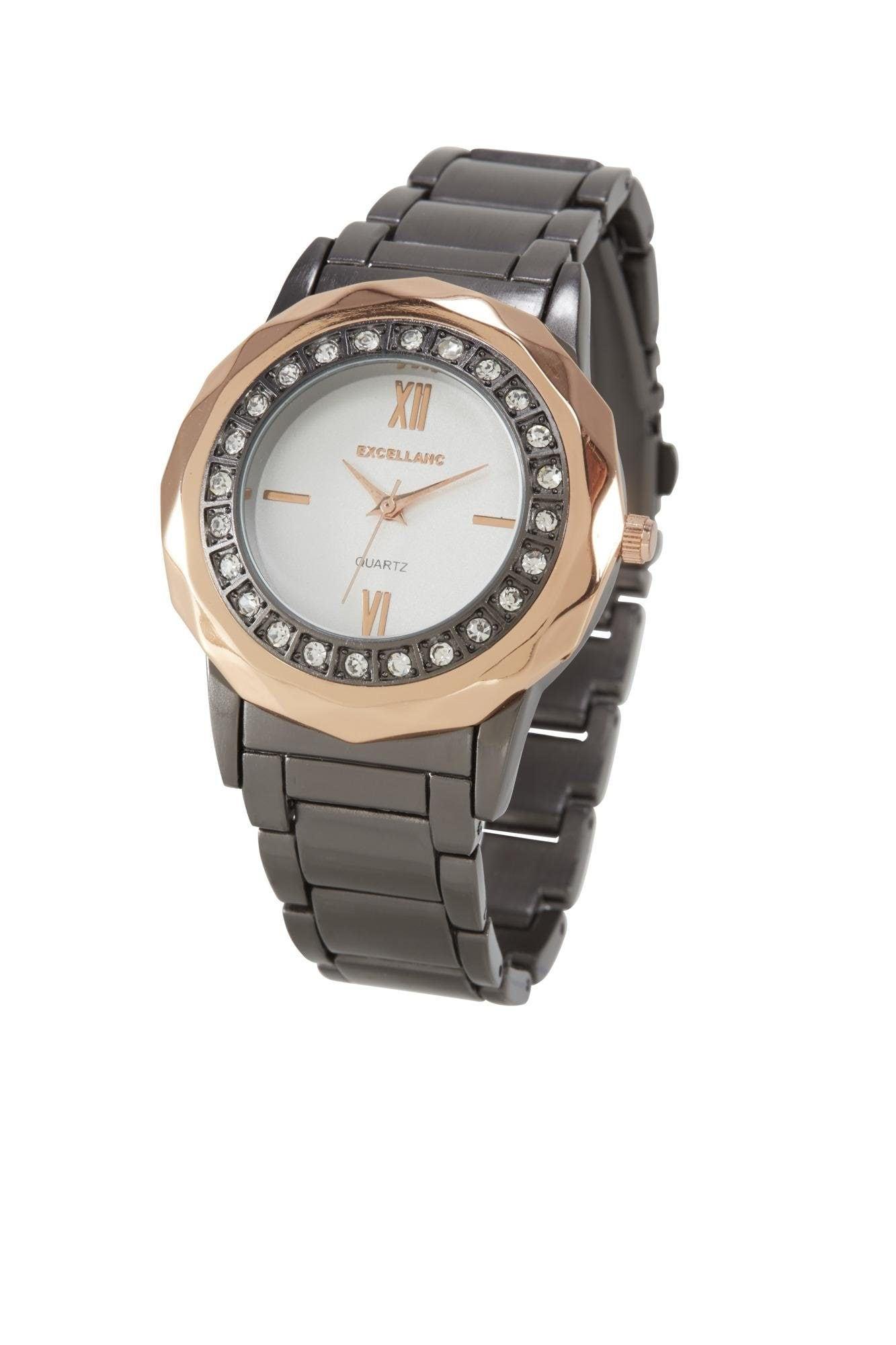 heine Analoginis (įprasto dizaino) laikrodis auksas / grafito / balta