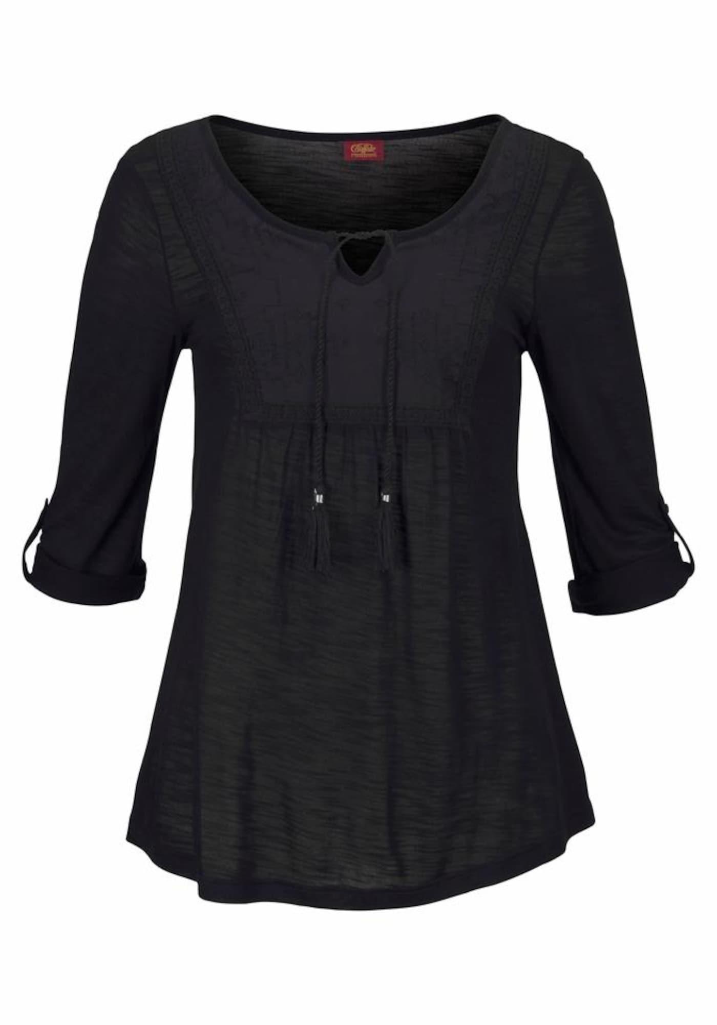 BUFFALO Tričko  černá