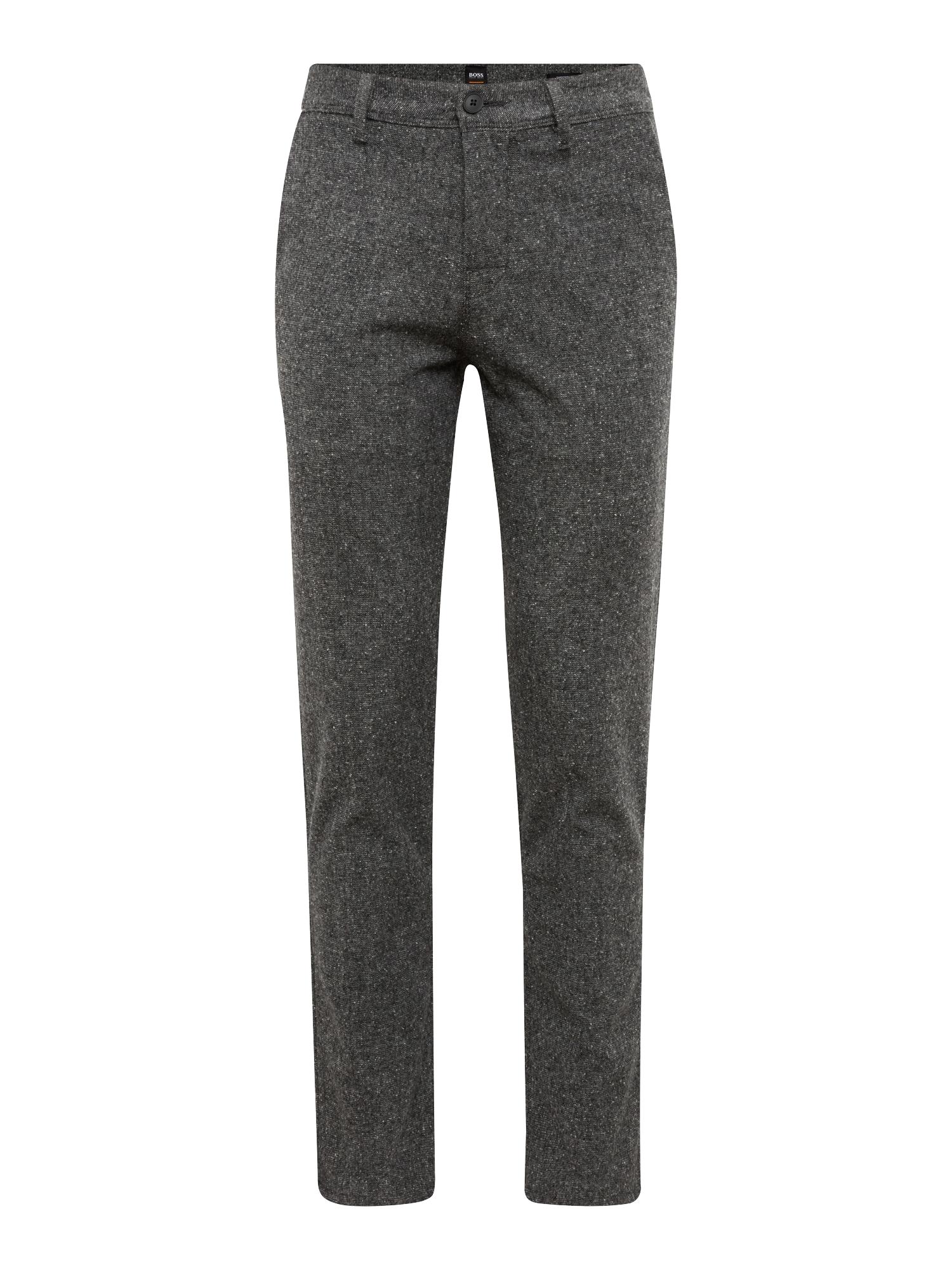 BOSS Chino stiliaus kelnės 'Schino-Tapered 10209697 01' tamsiai pilka / juoda