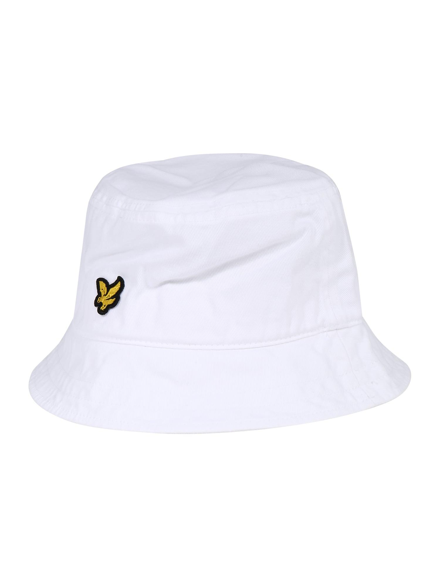Lyle & Scott Klobúk 'Bucket hat'  zlatá / čierna / biela