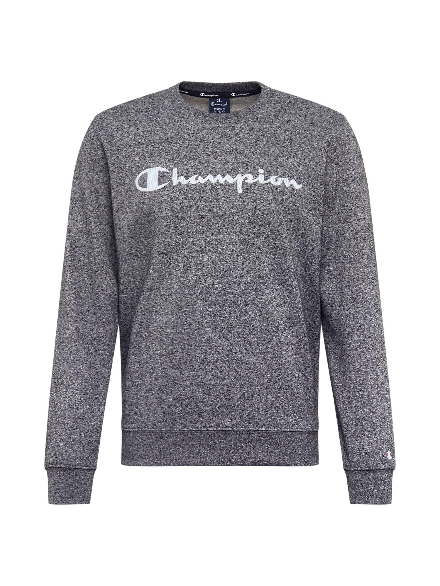 Champion Authentic Athletic Apparel Megztinis be užsegimo balta / tamsiai pilka