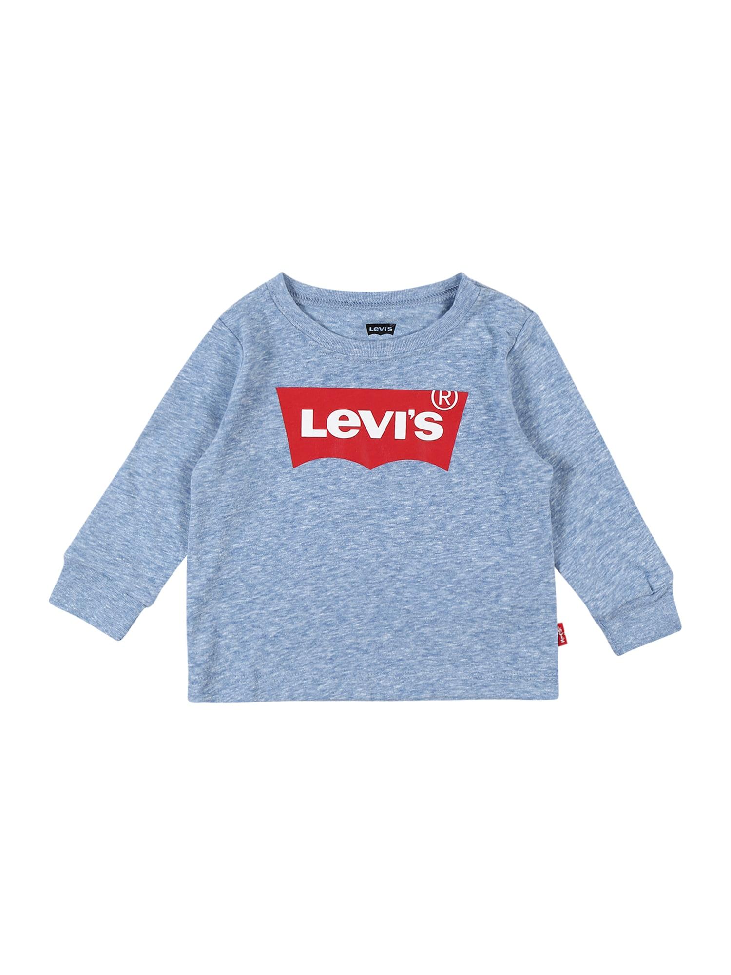 LEVI'S Tričko  světlemodrá / modrý melír / červená / bílá
