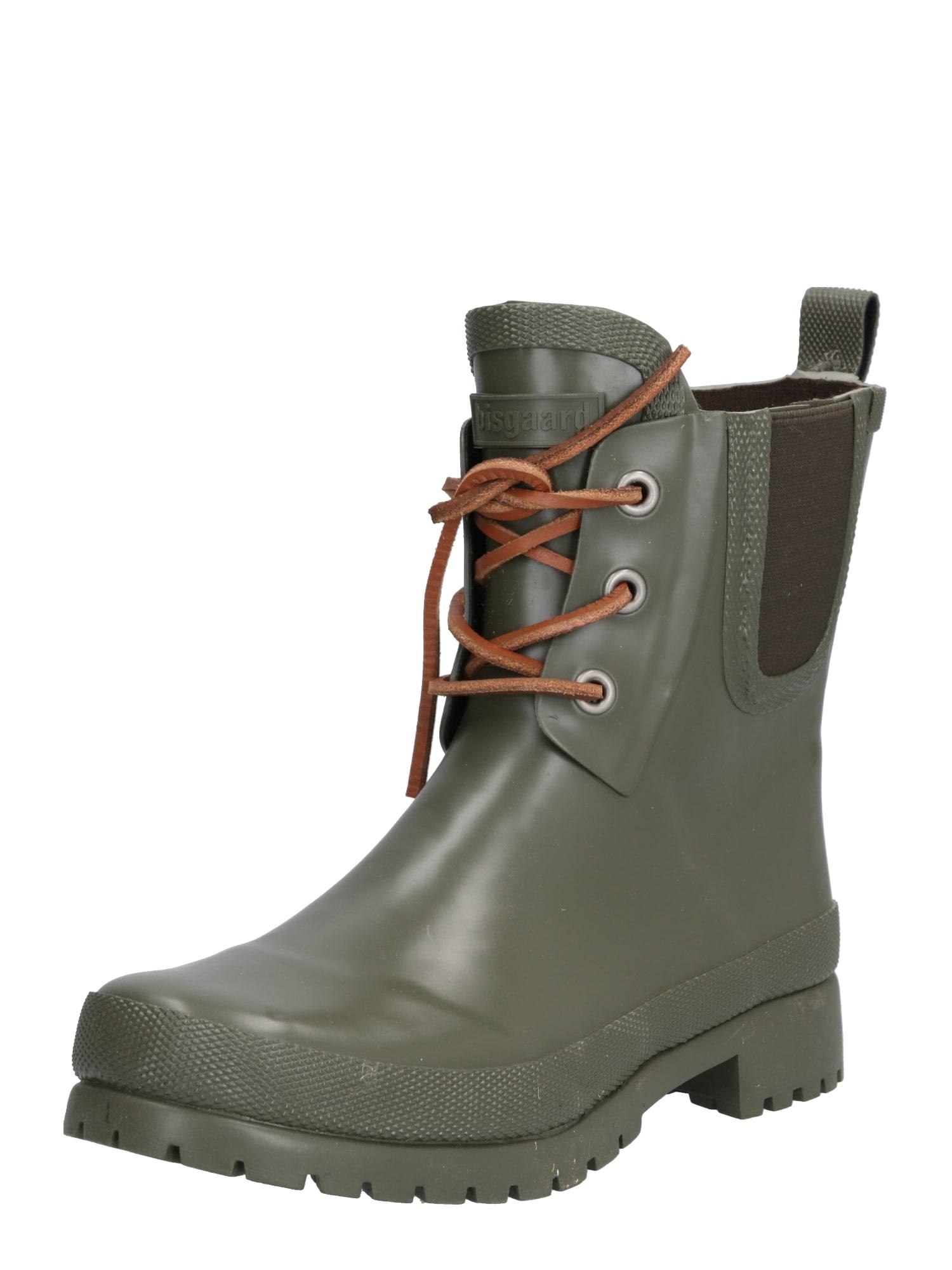BISGAARD Guminiai batai 'RUBBER BOOT' ruda / žalia / juoda
