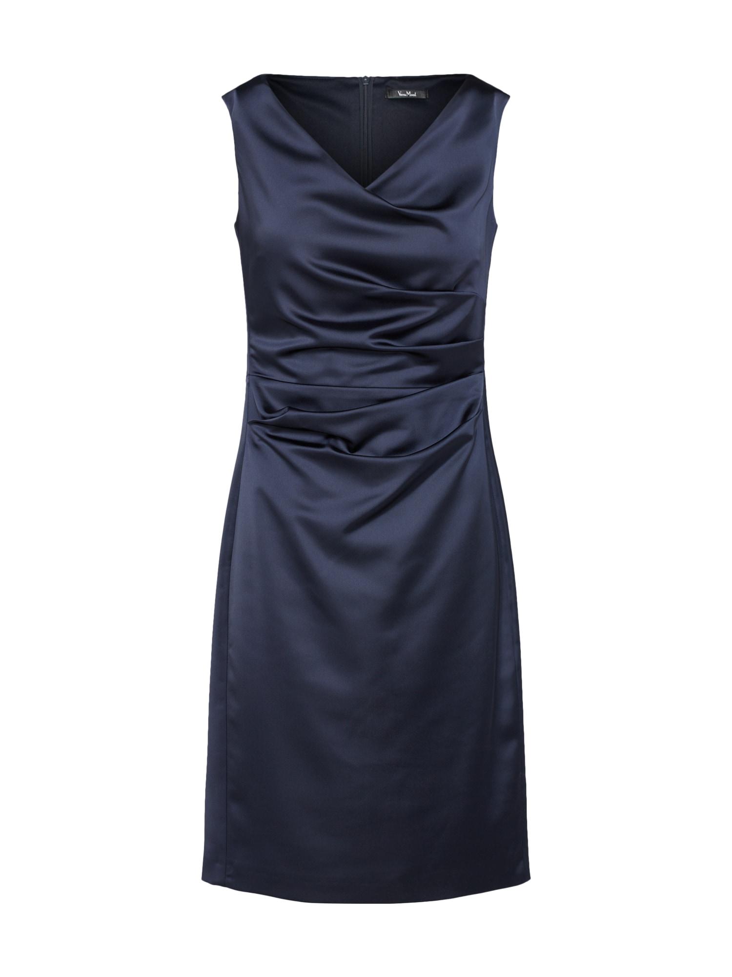 Vera Mont Trumpa kokteilinė suknelė nakties mėlyna