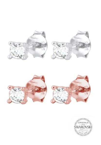 Ohrringe für Frauen - Ohrringe 'Kristall' Tri Color › ELLI › rosegold silber  - Onlineshop ABOUT YOU