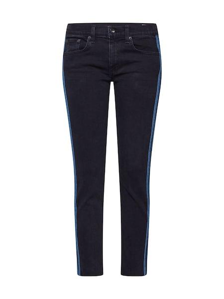 Hosen für Frauen - Jeans 'Ankle Dre' › Rag Bone › himmelblau schwarz  - Onlineshop ABOUT YOU