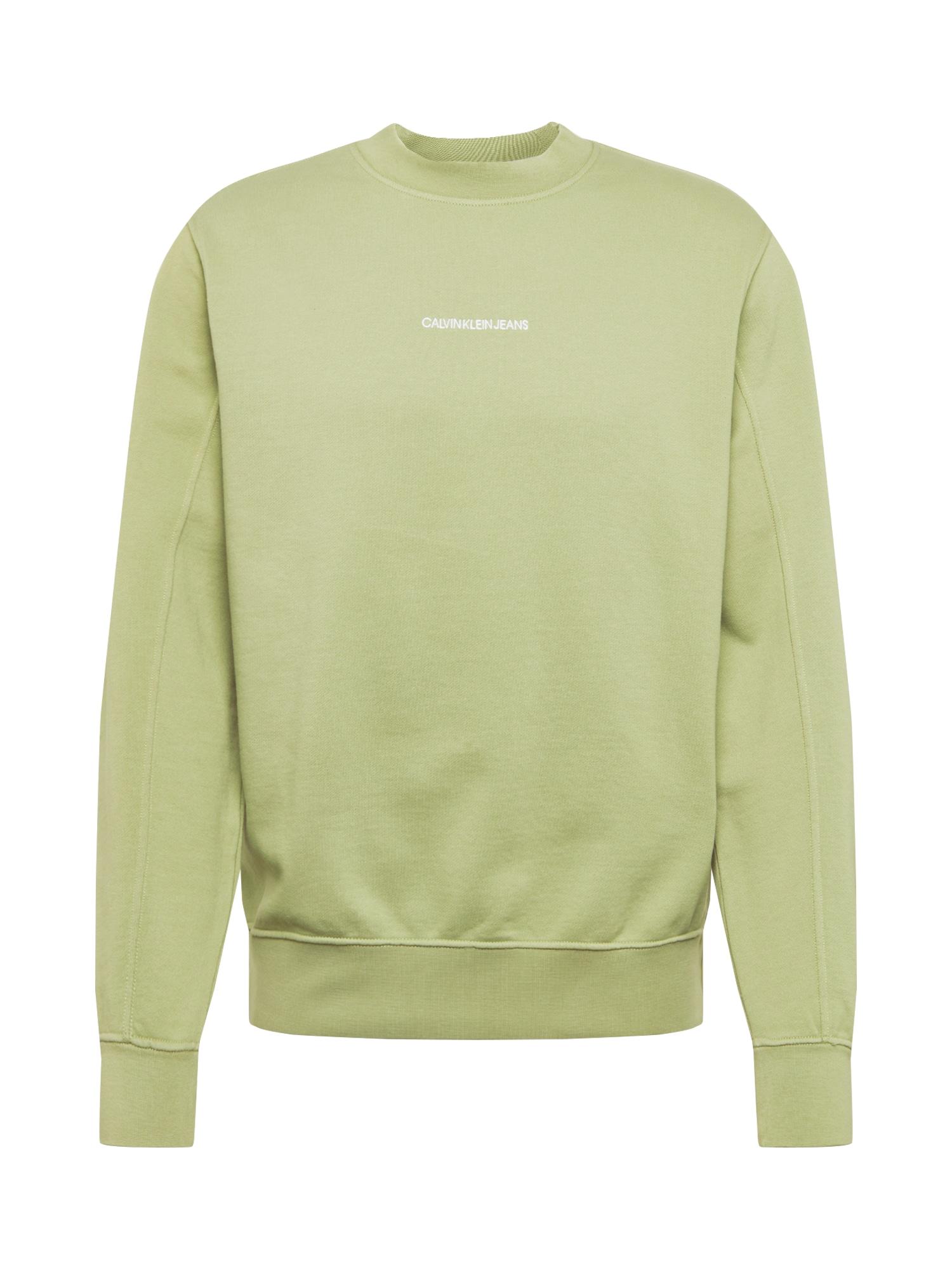 Calvin Klein Jeans Megztinis be užsegimo 'INSTIT' šviesiai žalia