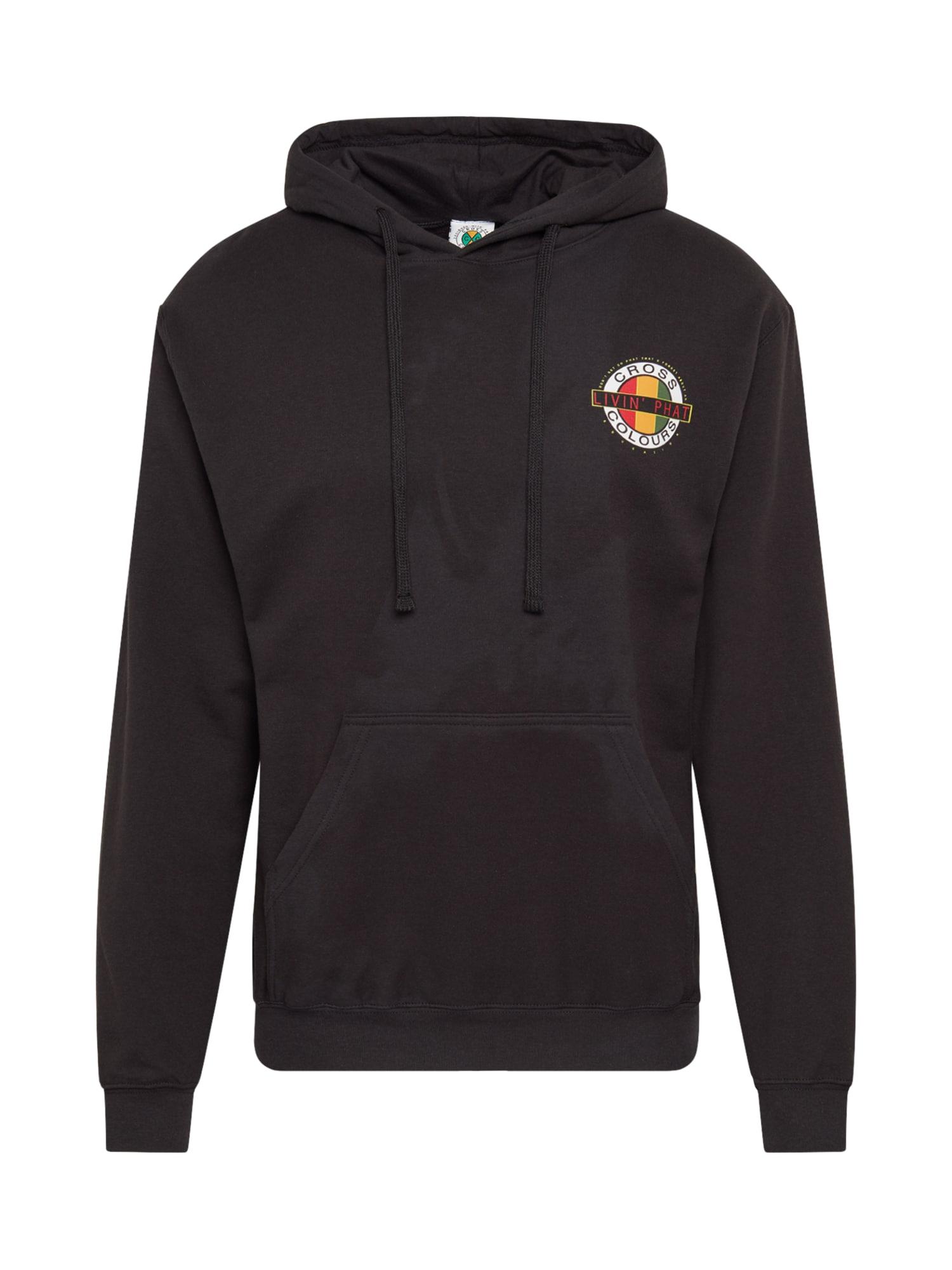 CROSS COLOURS Megztinis be užsegimo 'Livin Phat Logo Hoodie' juoda