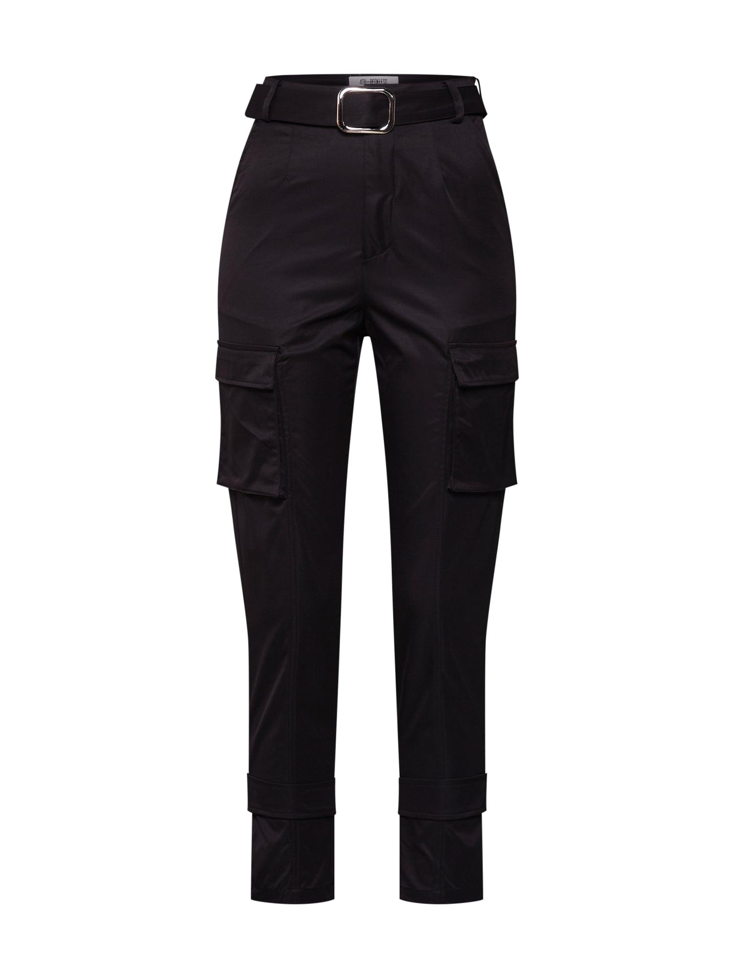 4th & Reckless Laisvo stiliaus kelnės 'SCRIPT' juoda