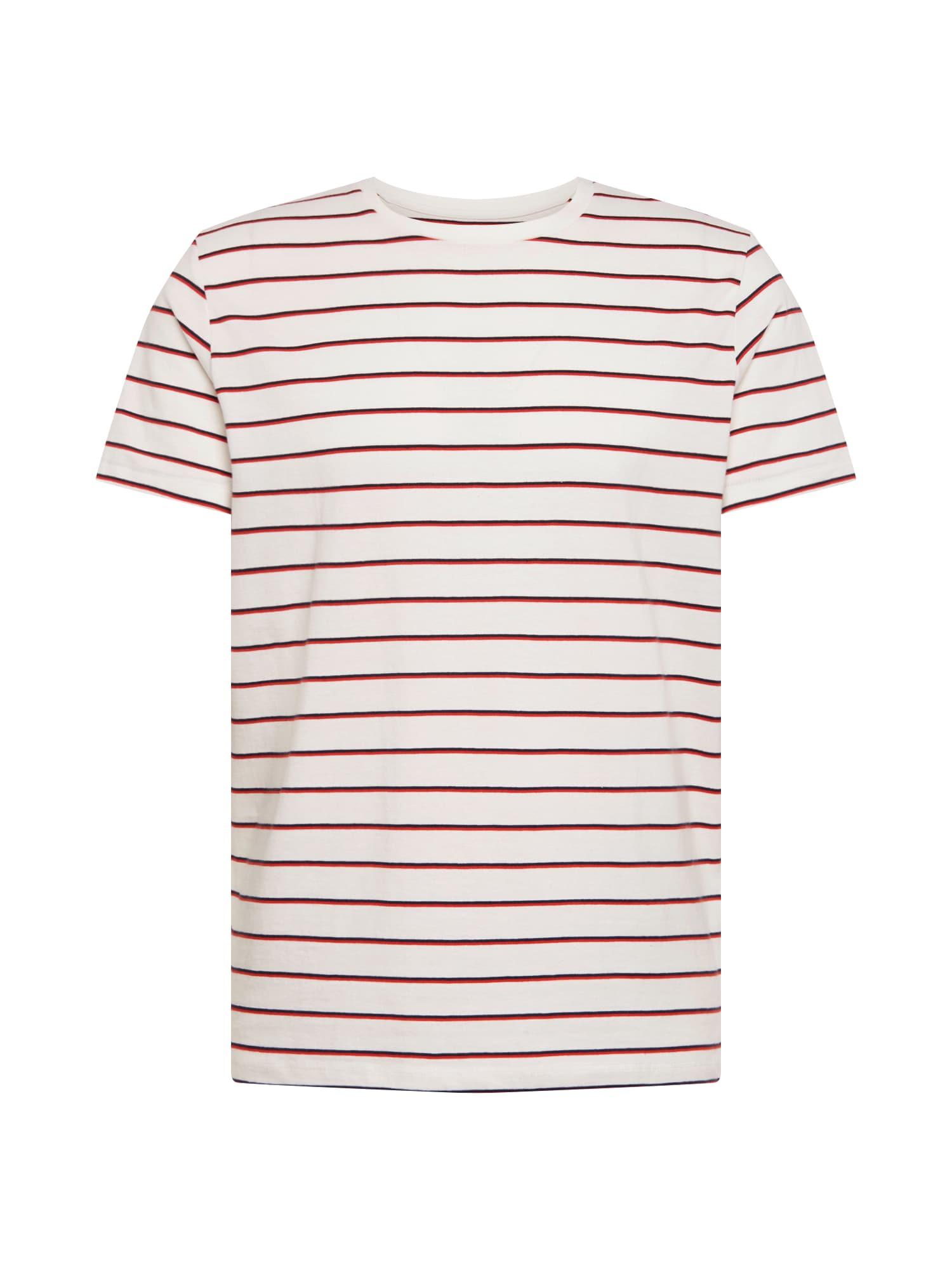 Tričko červená bílá JACK & JONES