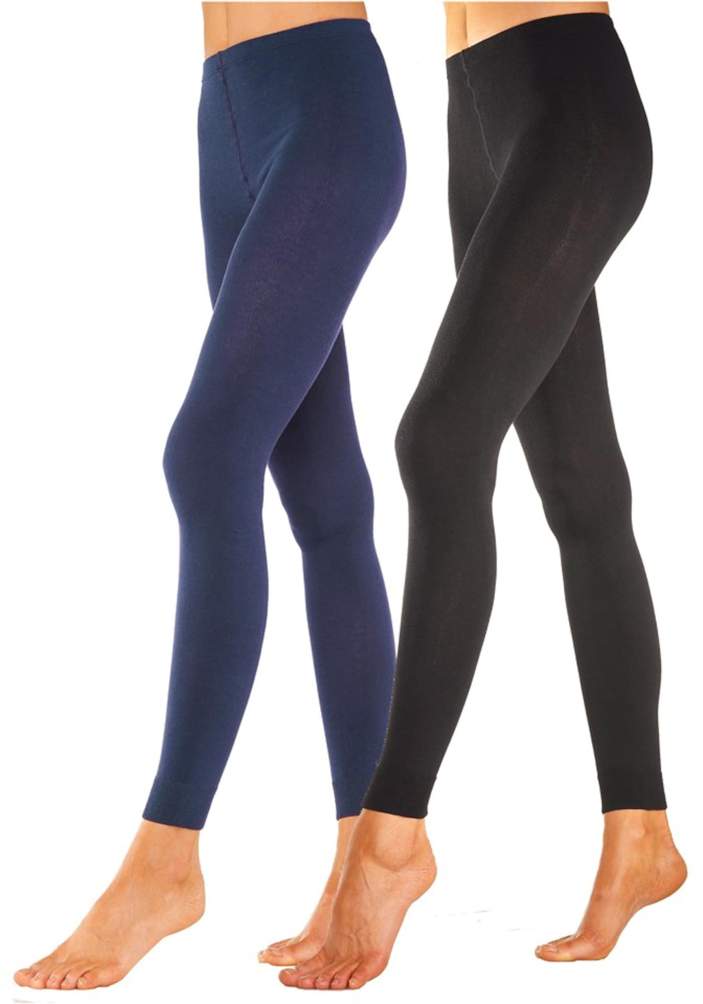 ROGO Punčocháče  černá / modrá