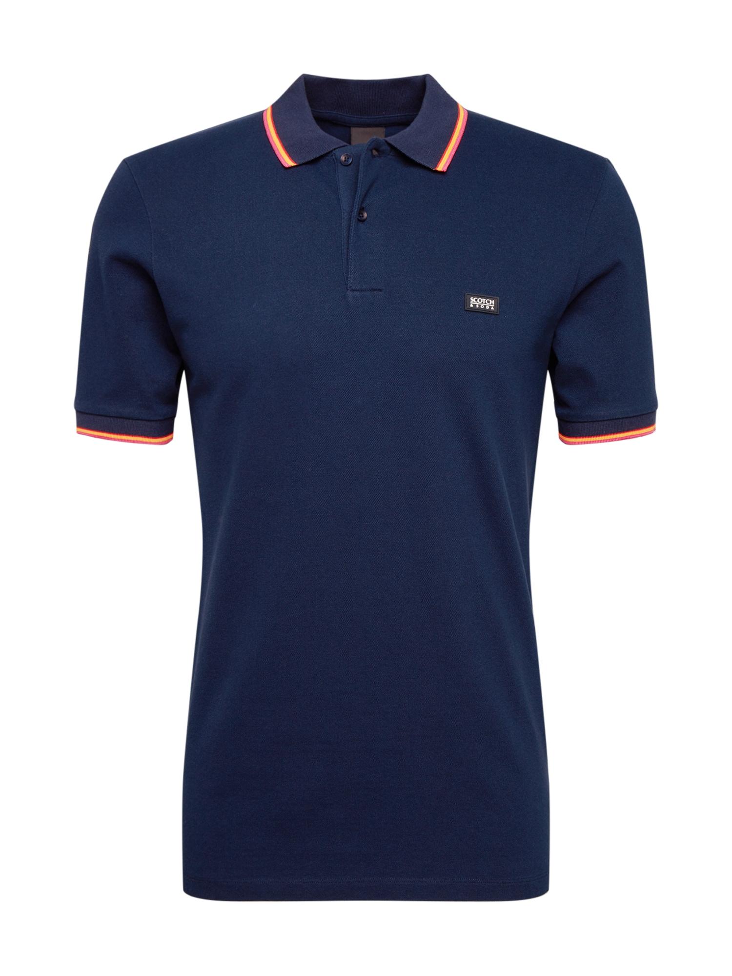 SCOTCH & SODA Tričko  námornícka modrá / oranžová