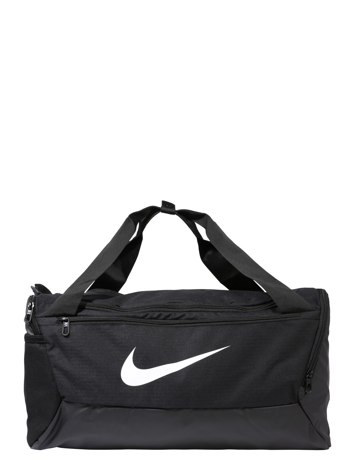 NIKE Sportinis krepšys 'BRSLA S DUFF - 9.0' balta / juoda