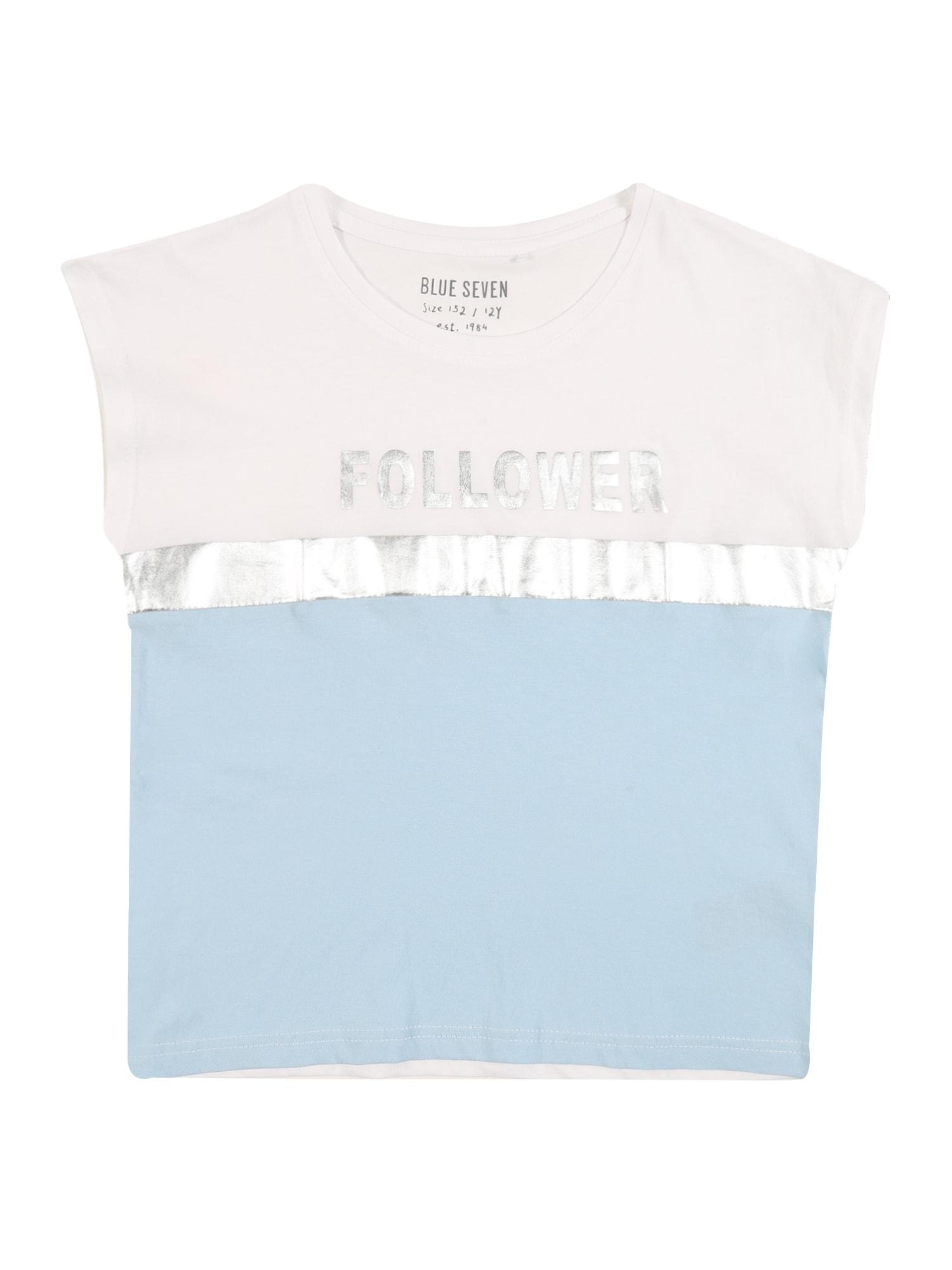 BLUE SEVEN Marškinėliai šviesiai mėlyna