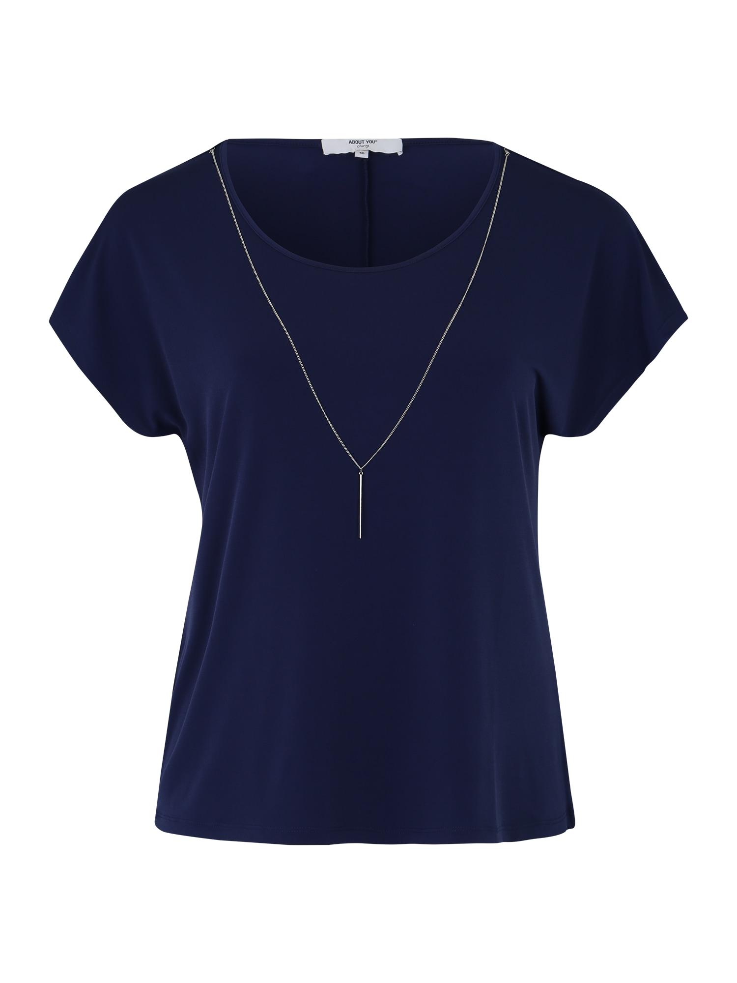 ABOUT YOU Curvy Marškinėliai 'Mandy' tamsiai mėlyna