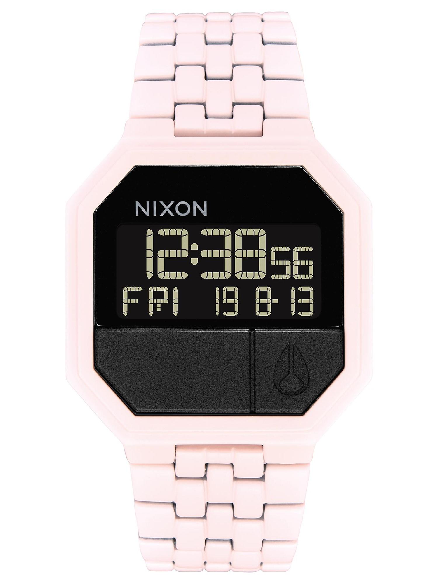 Digitální hodinky Re-Run růžová Nixon