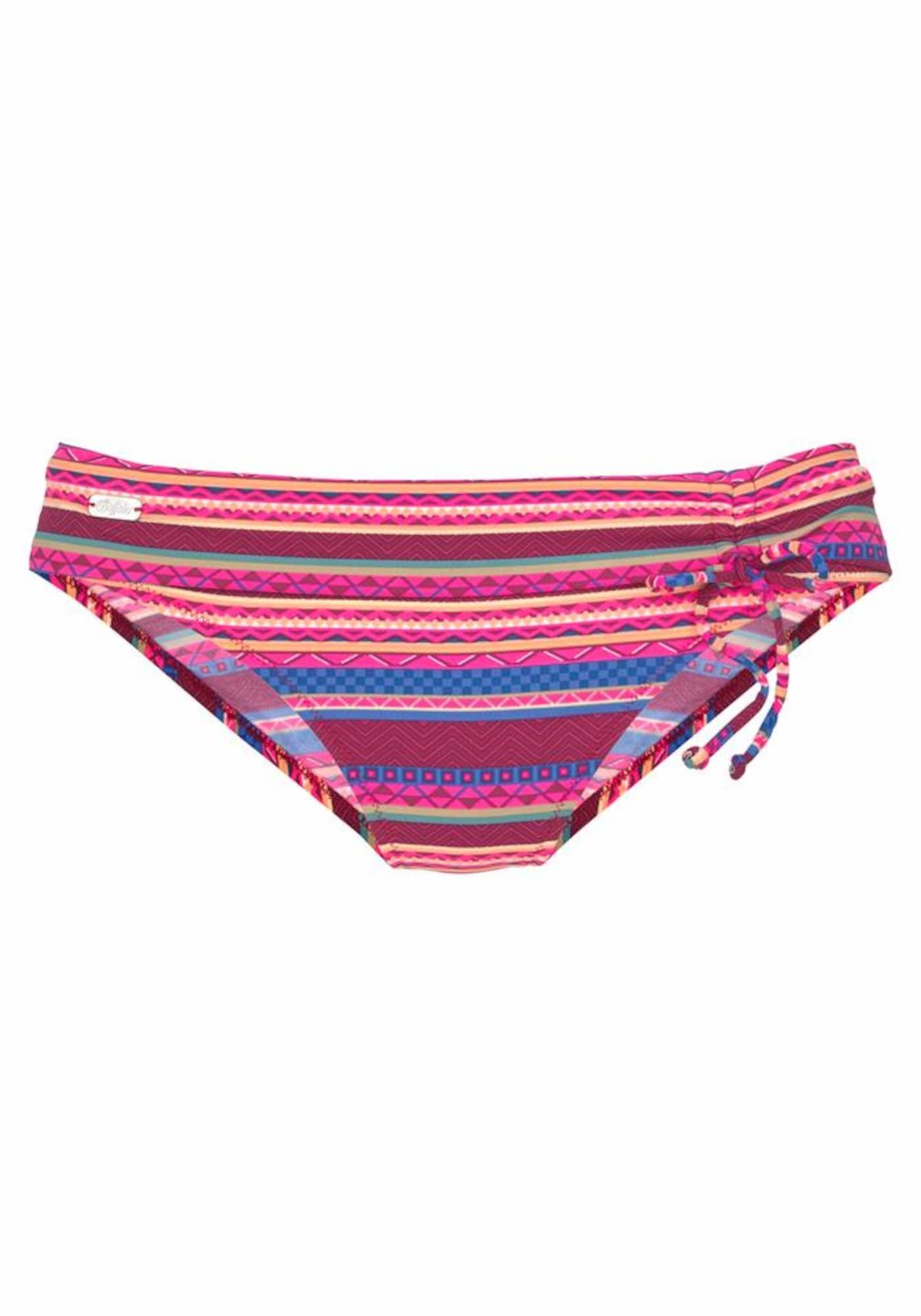 BUFFALO Bikinio kelnaitės vyšninė spalva / mėlyna / fuksijų spalva